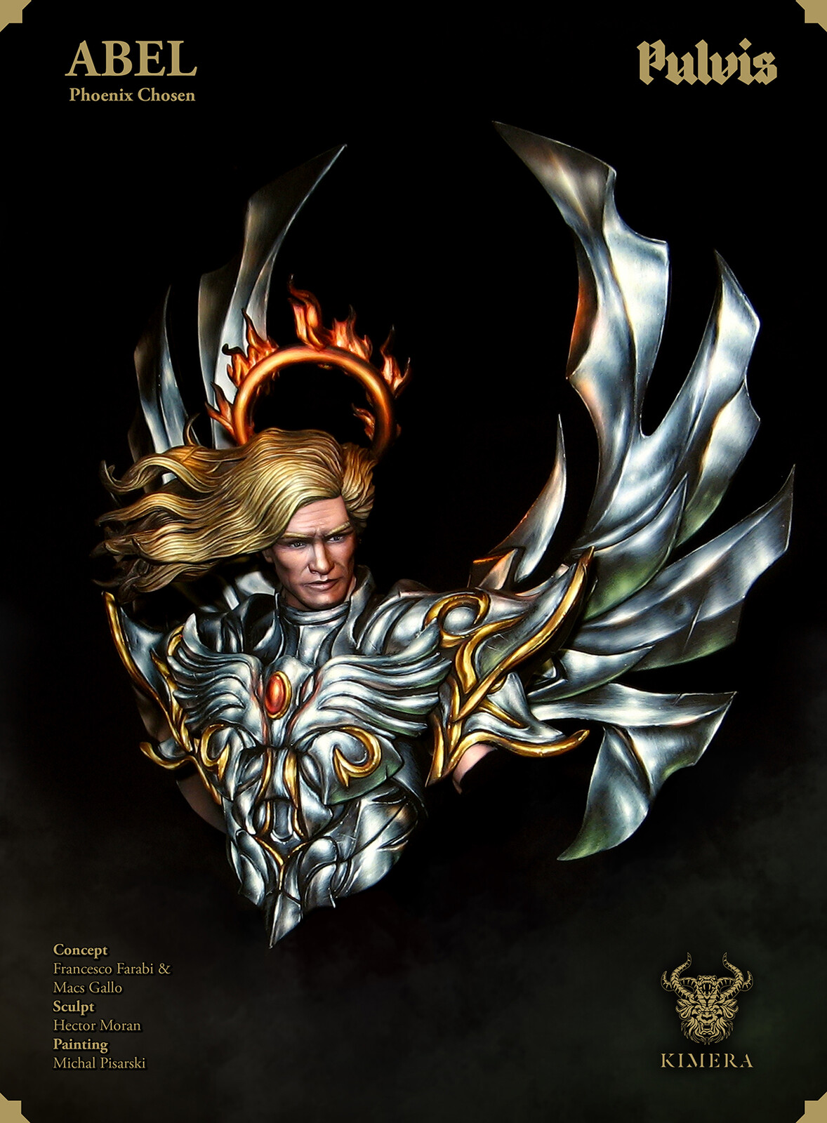 Abel - Phoenix Chosen - Painted Miniature Bust