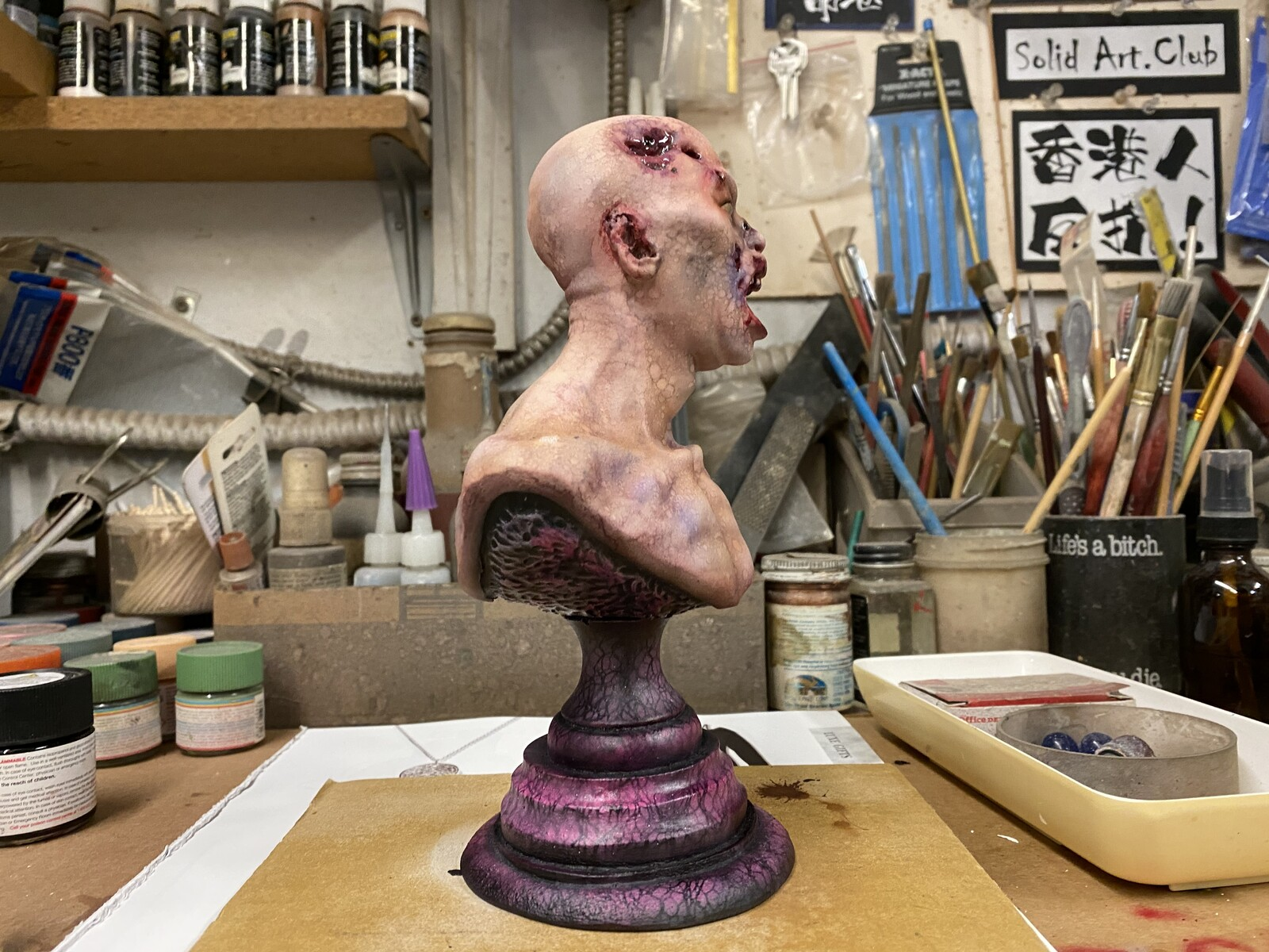 Zombie Bust 1:3 scale Art Statue  https://www.solidart.club/