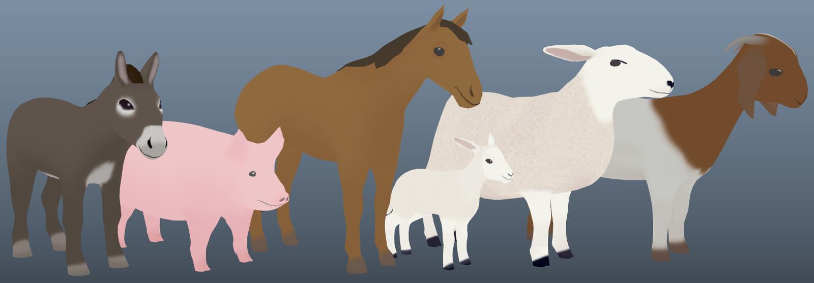 Farm animal models