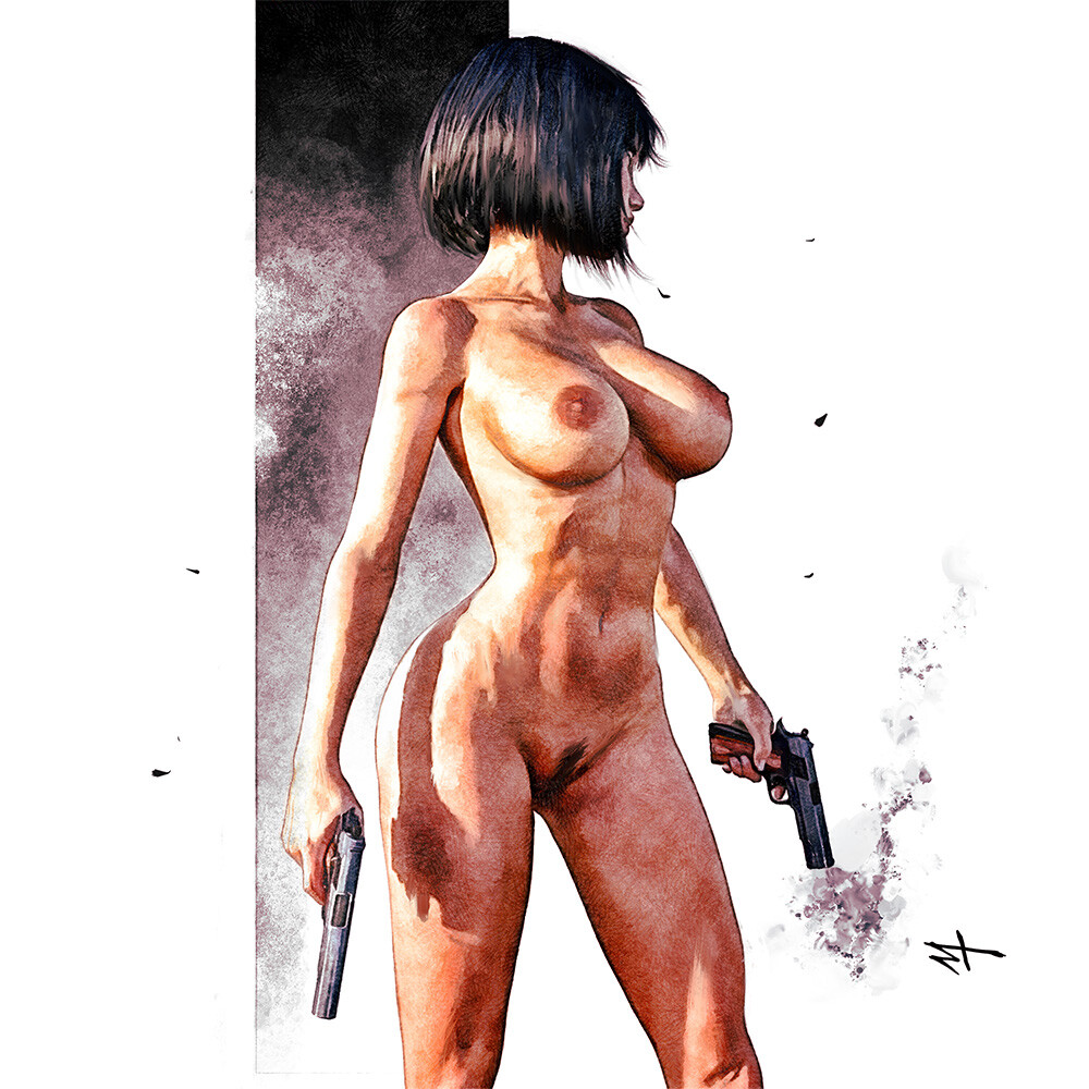 Nude Scifi girl Study
