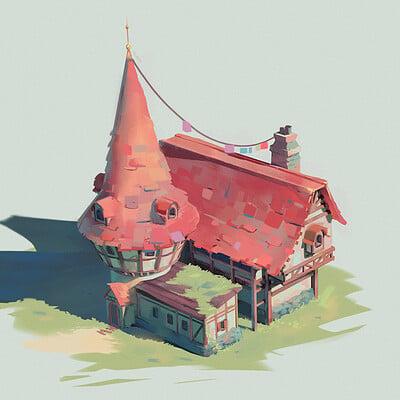 Medieval building concept
