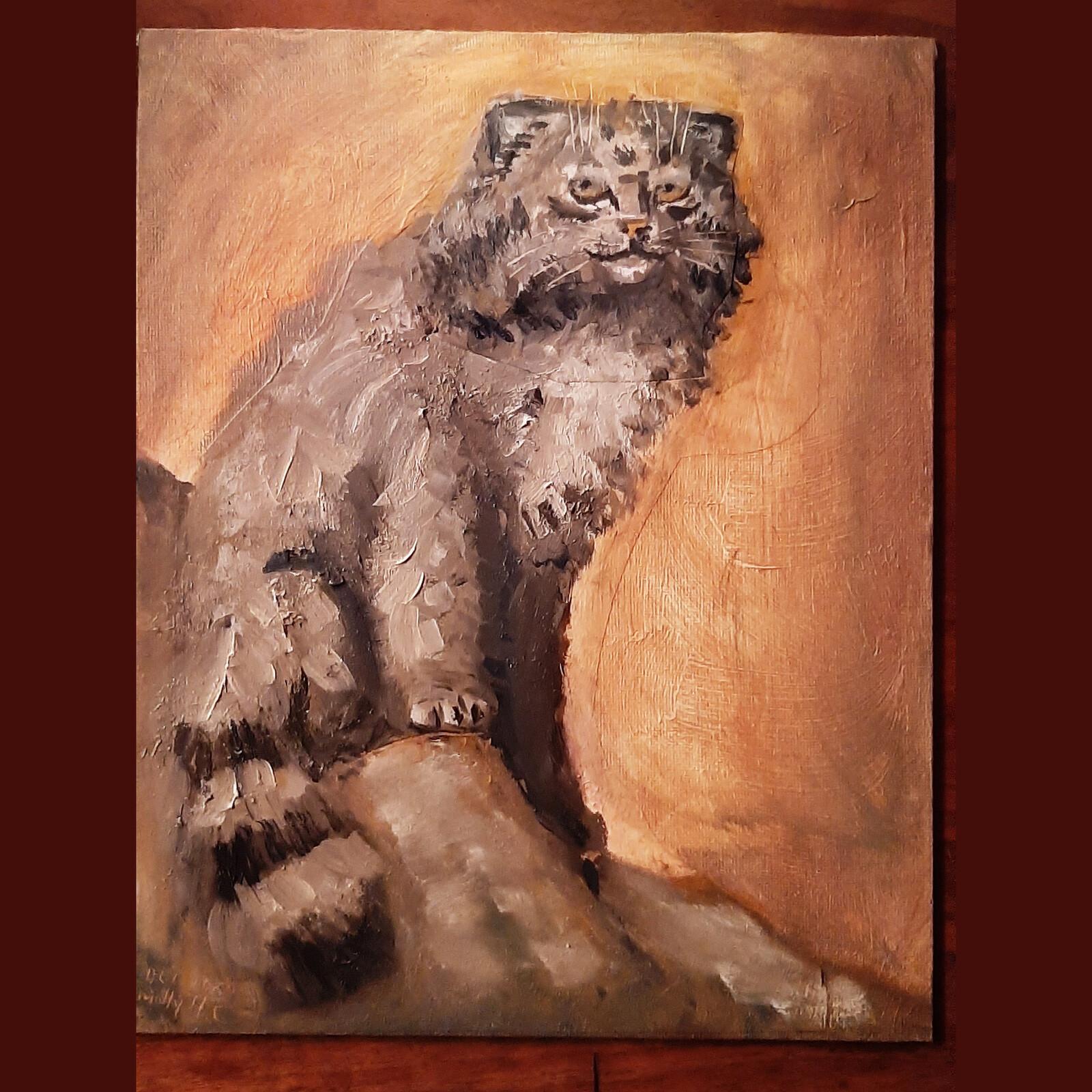 Oil Study: Pallas' Cat (2021)