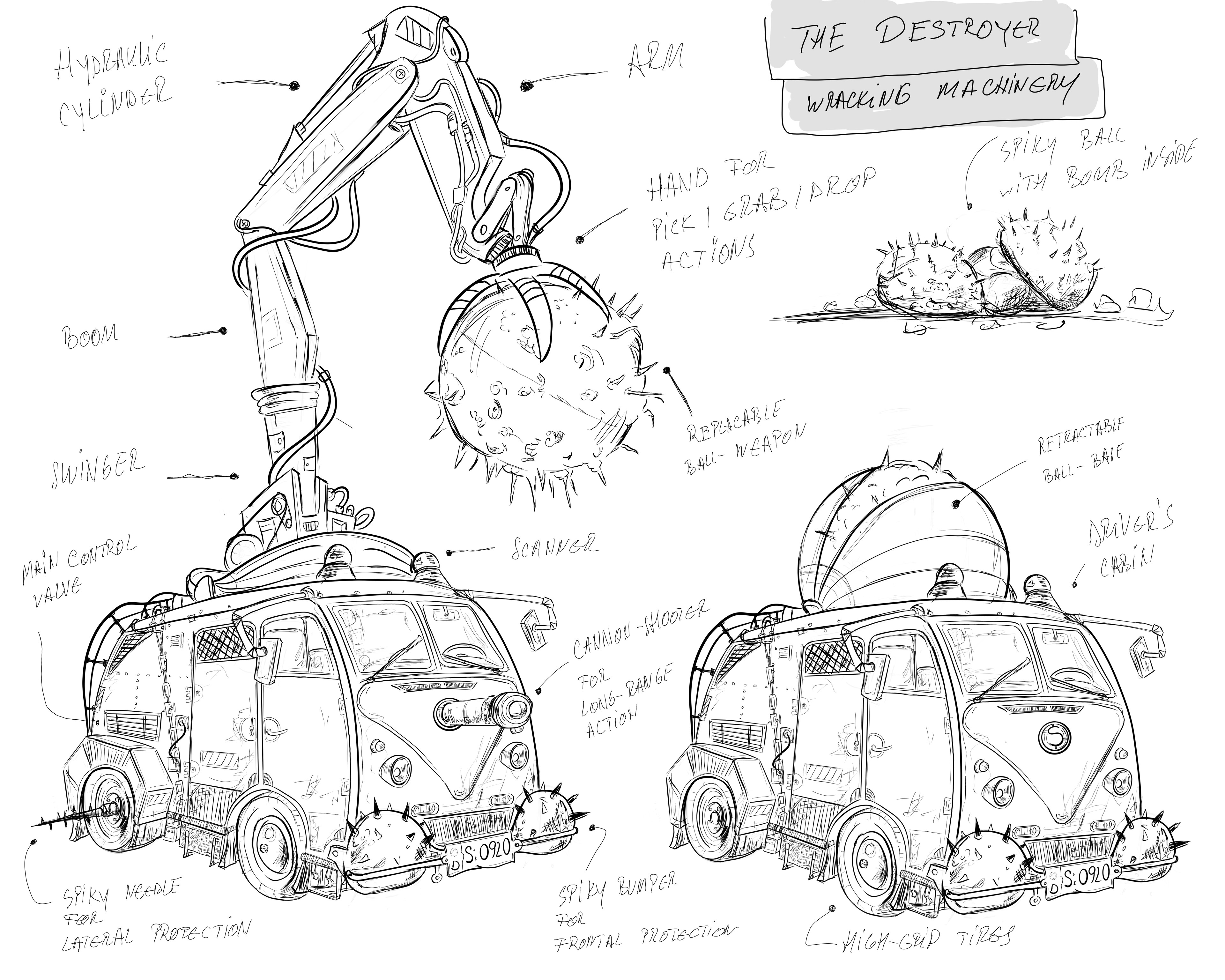 Final concept of the Destroyer