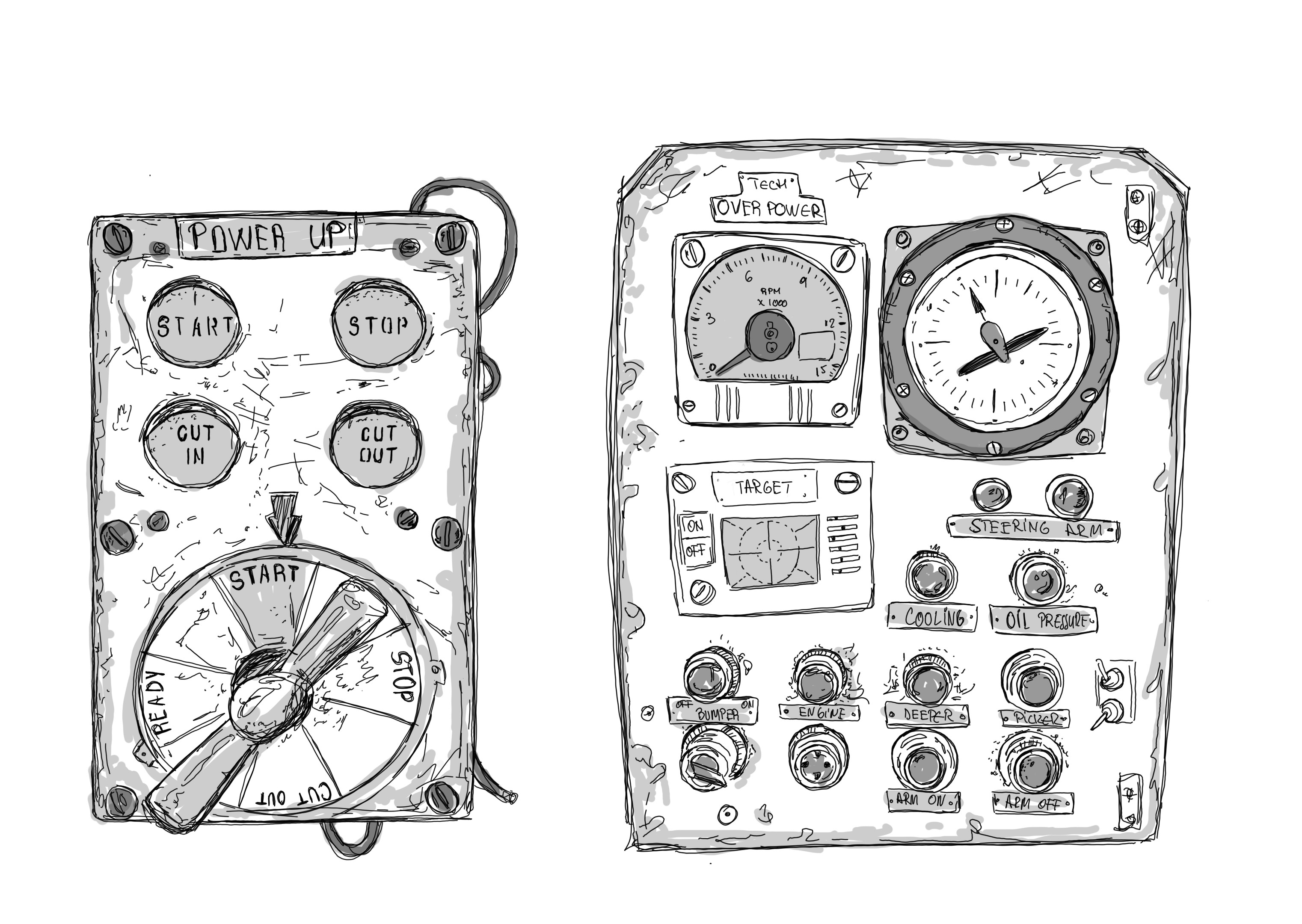Sketch close-up, board control