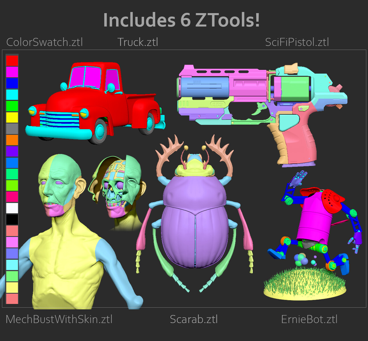 These ZTL's are included in the marketplace downloads, along with an extra 90 minutes of demos!