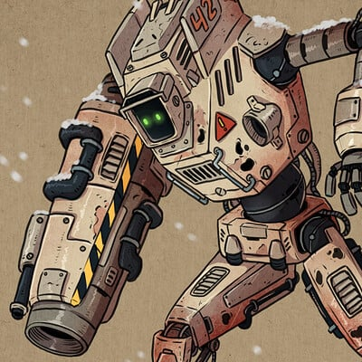 Oixxo art 2020 12 25 snowdrop robot