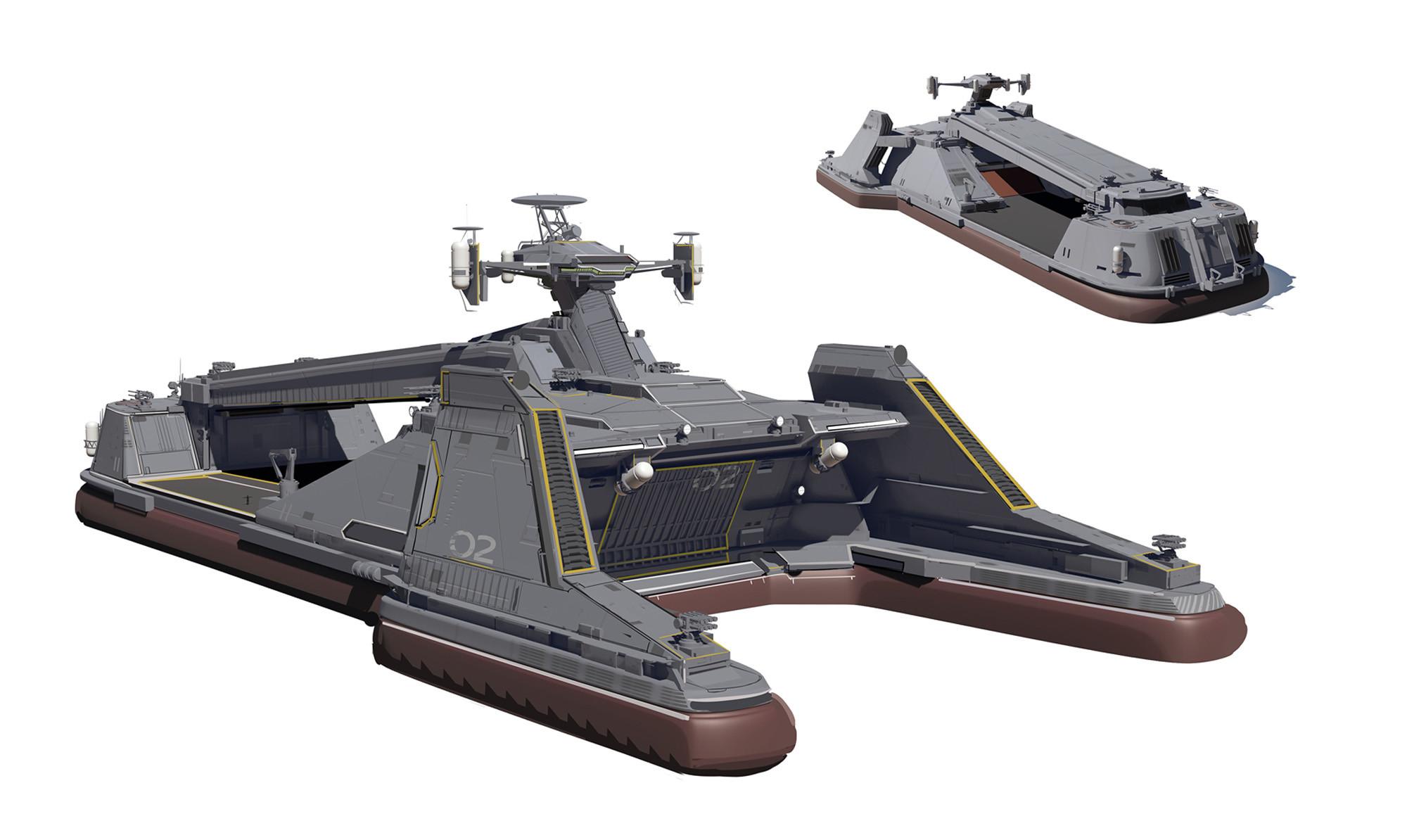 Hover carrier rough design