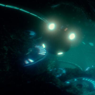 Izaki berdea underwater city