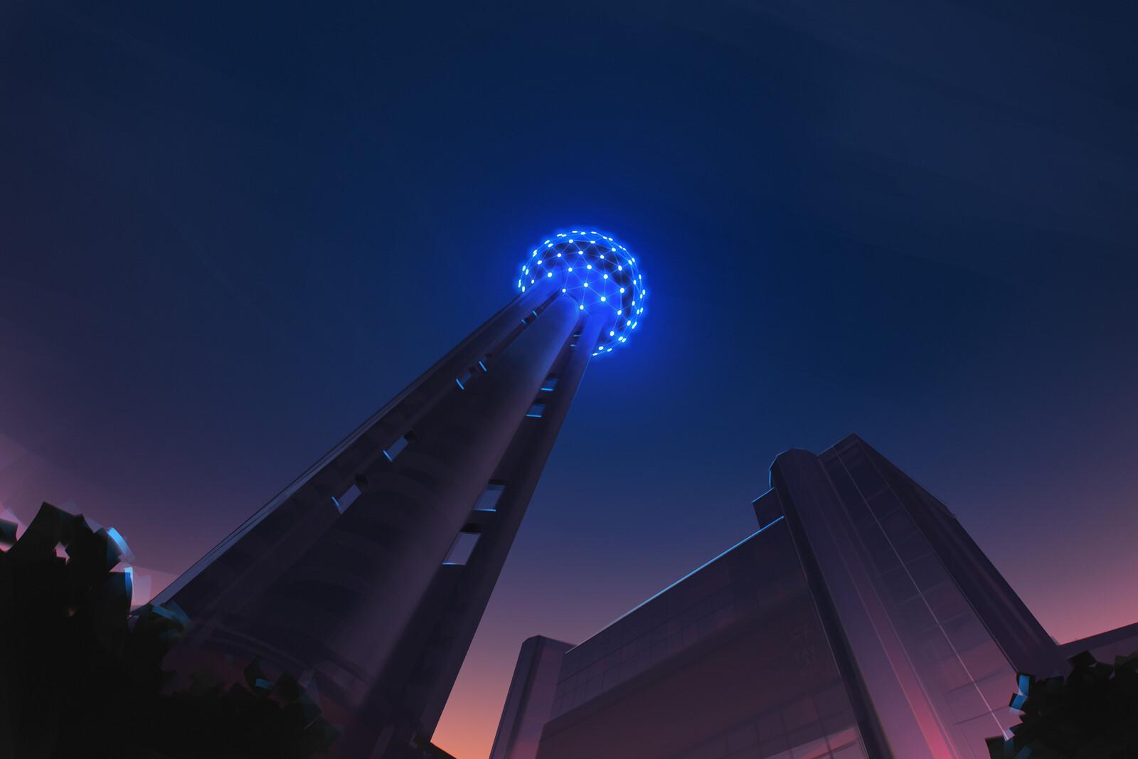 Reunion Tower at Hyatt Regency Dallas, Texas Furrry Fiesta