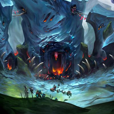 Emmanuel malin orc stronghold snow illu logo