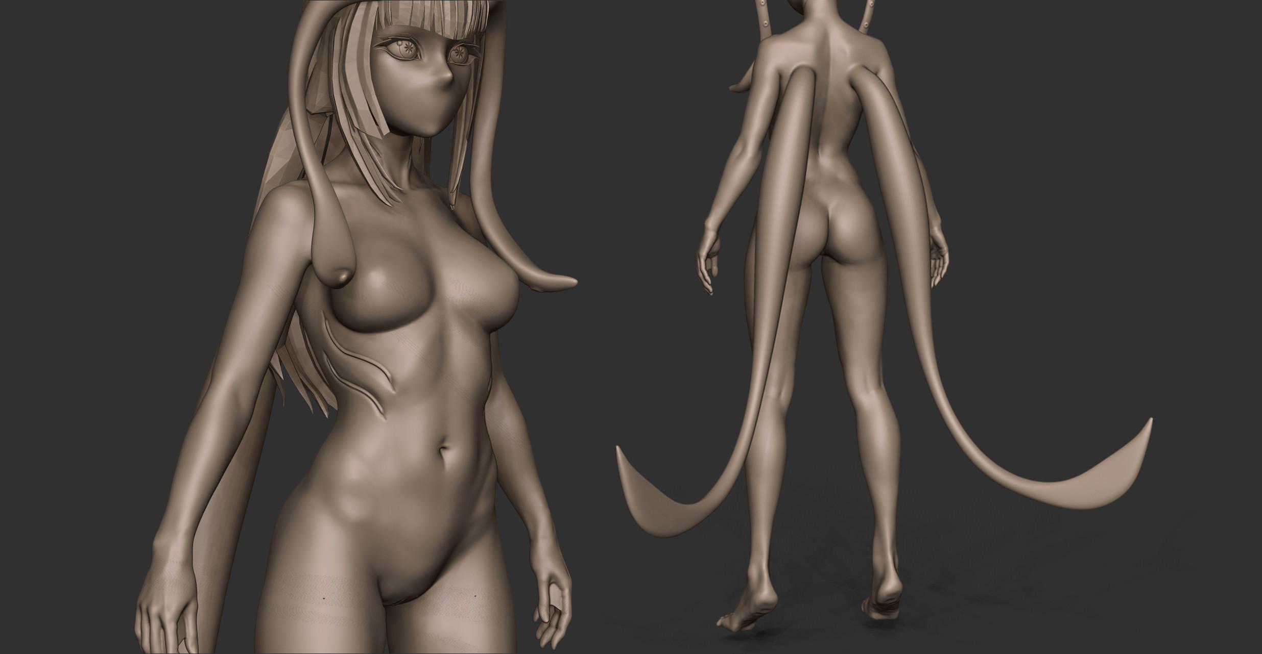 Anatomy Clay render