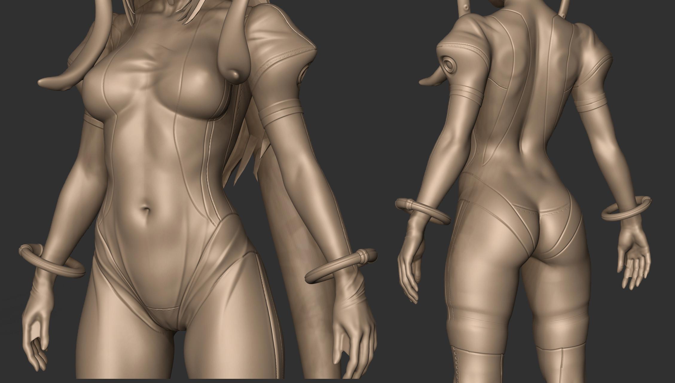 Space Suit Clay render