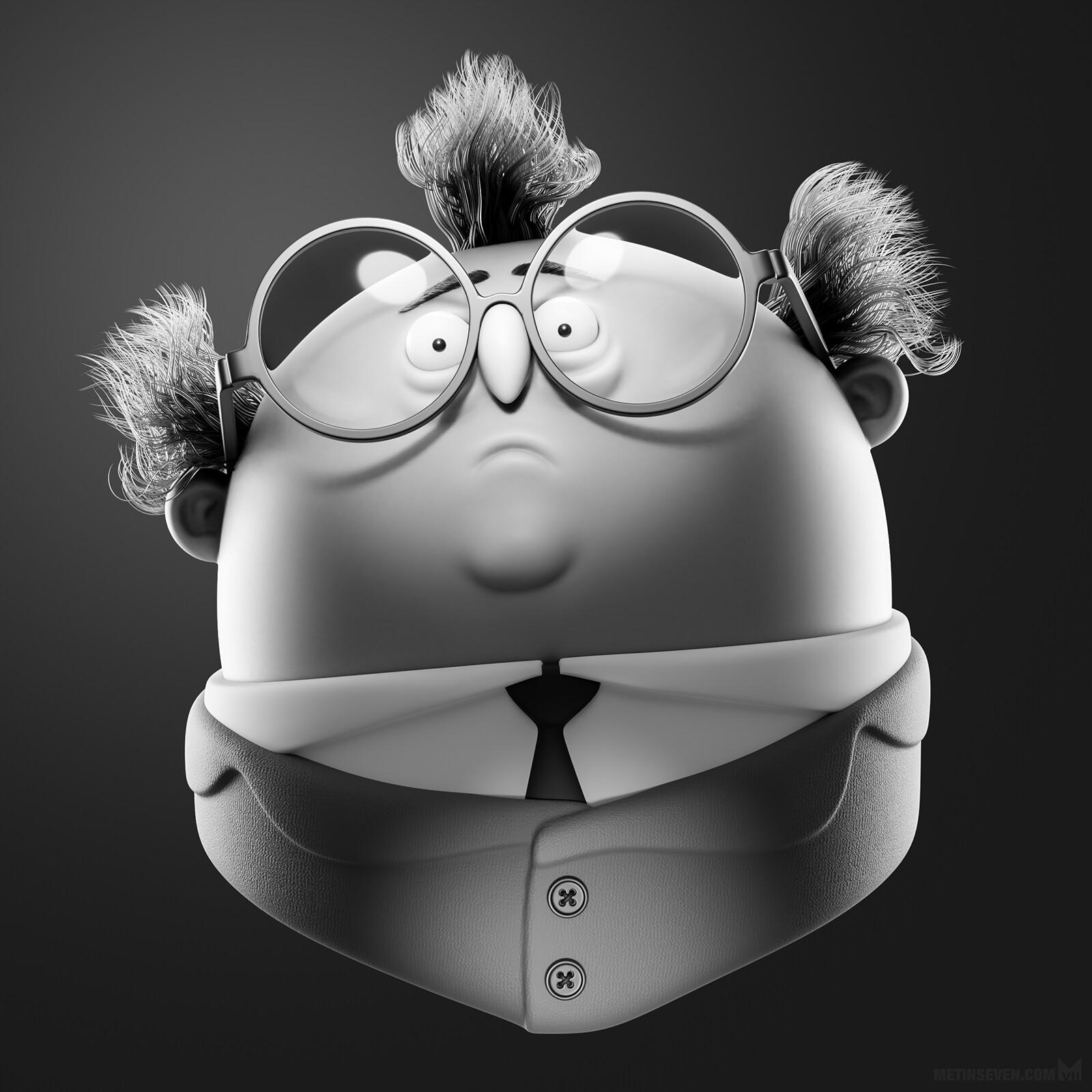 Geeky genius 3D character | Concept: Maxim Kalyakin