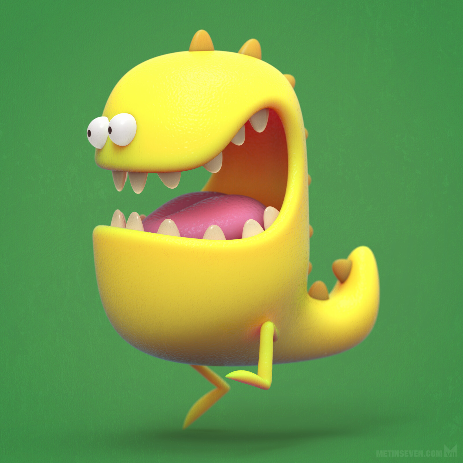 3D cartoon monster