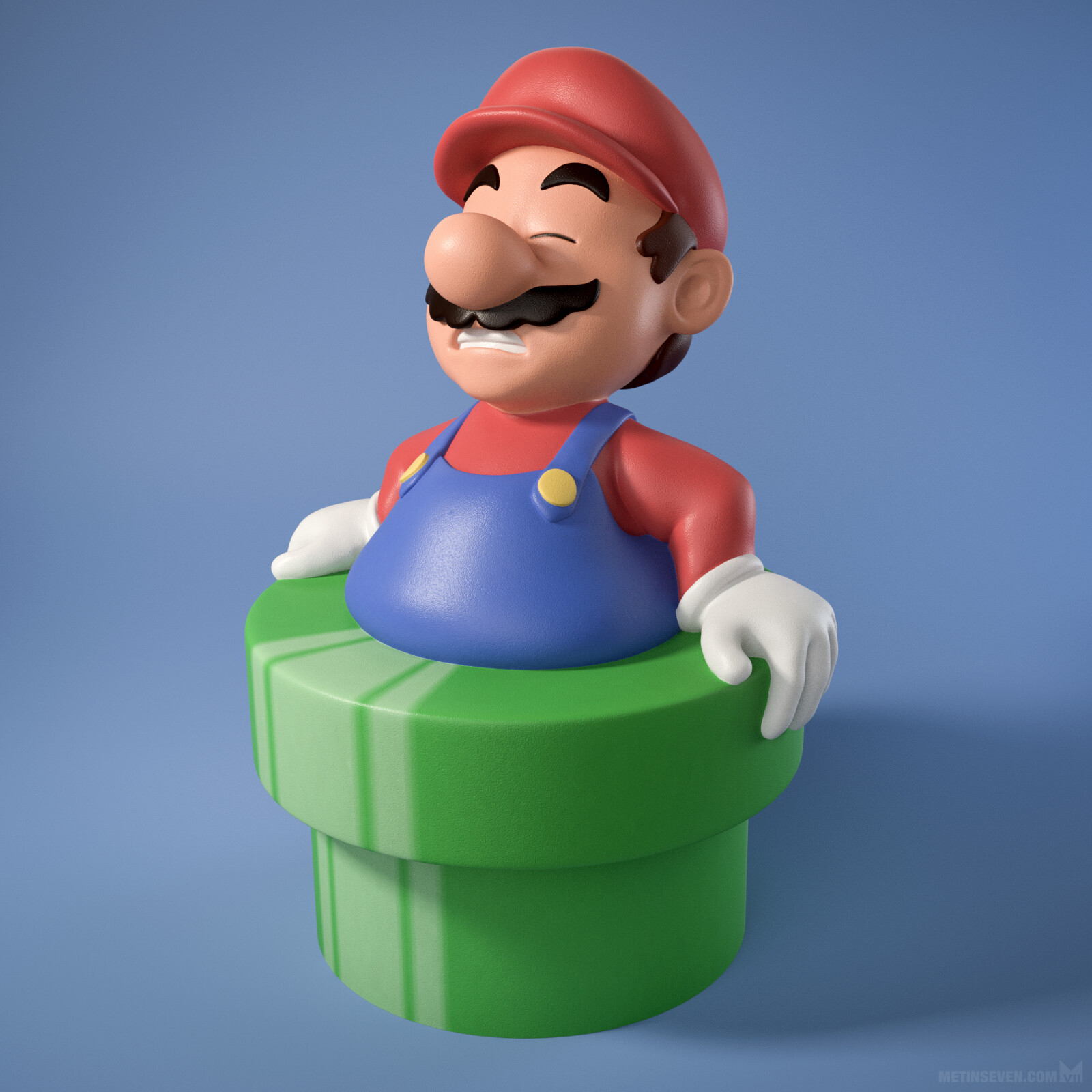 Mario ate too many mushrooms, 3D print design