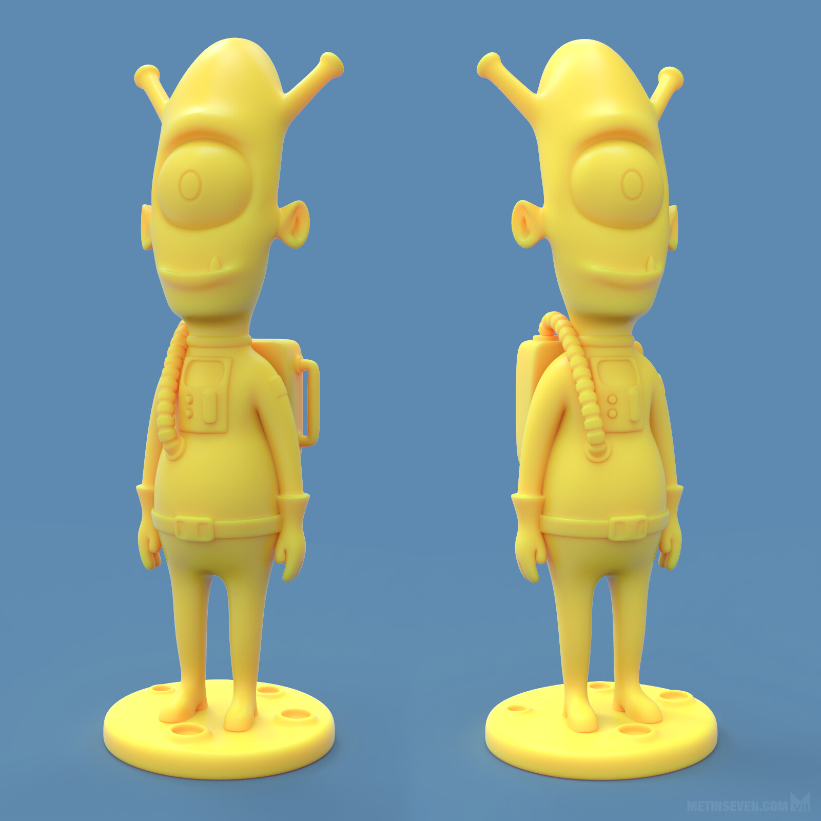 Friendly alien 3D-printed figure design | Concept: Patrick Maynard