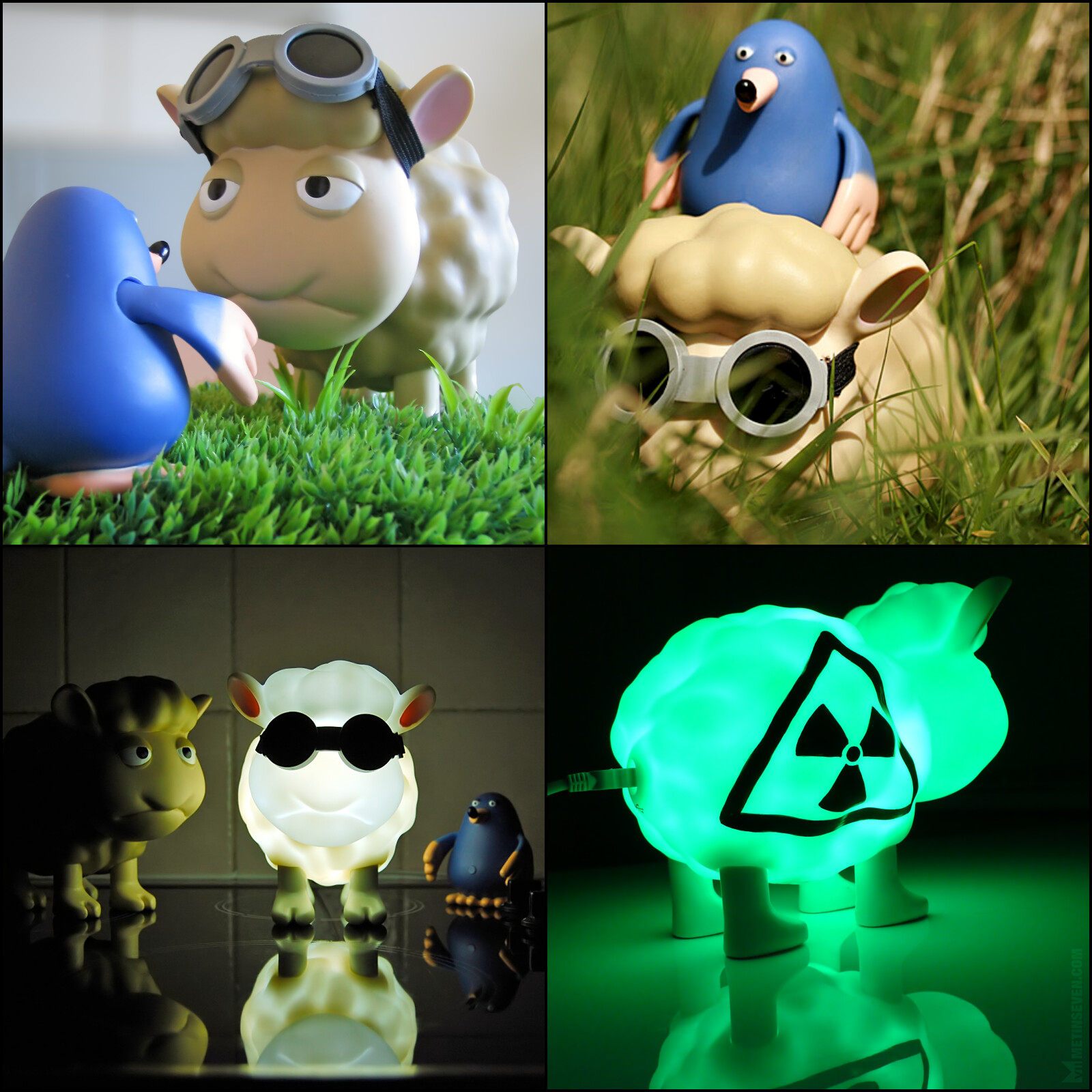 Design of vinyl toy figures and USB lamps, produced in Hong Kong, derived from Metin's Seamour Sheep comic strip series