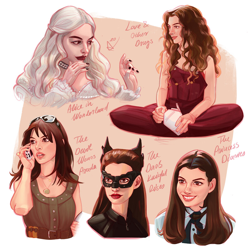 Anne Hathaway Fan Art