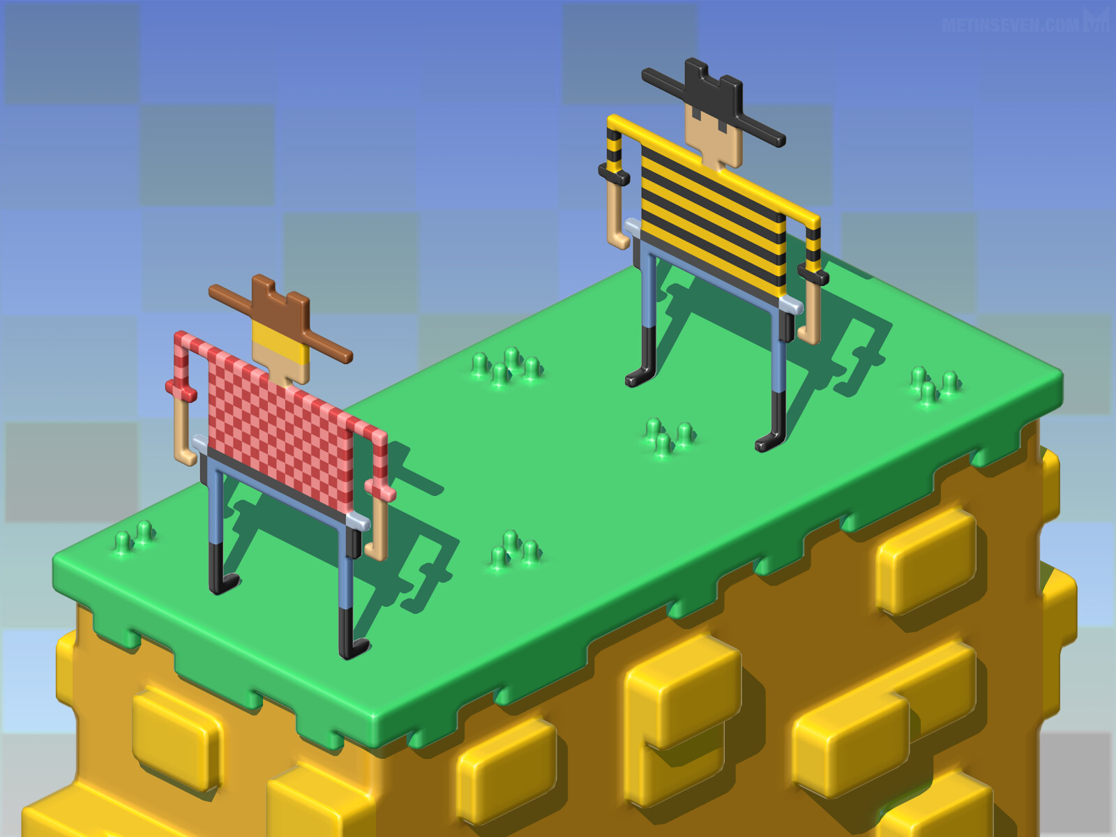 Gunfight at the Voxel Corral