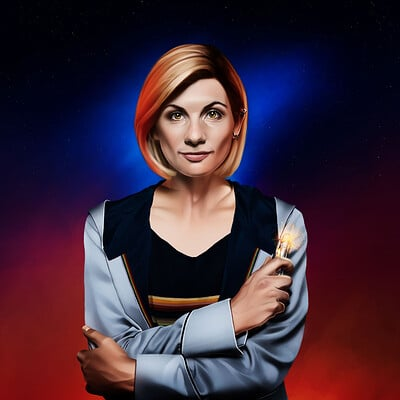 Lee bryan jody whittaker as the doctor lee bryan art dec 2020