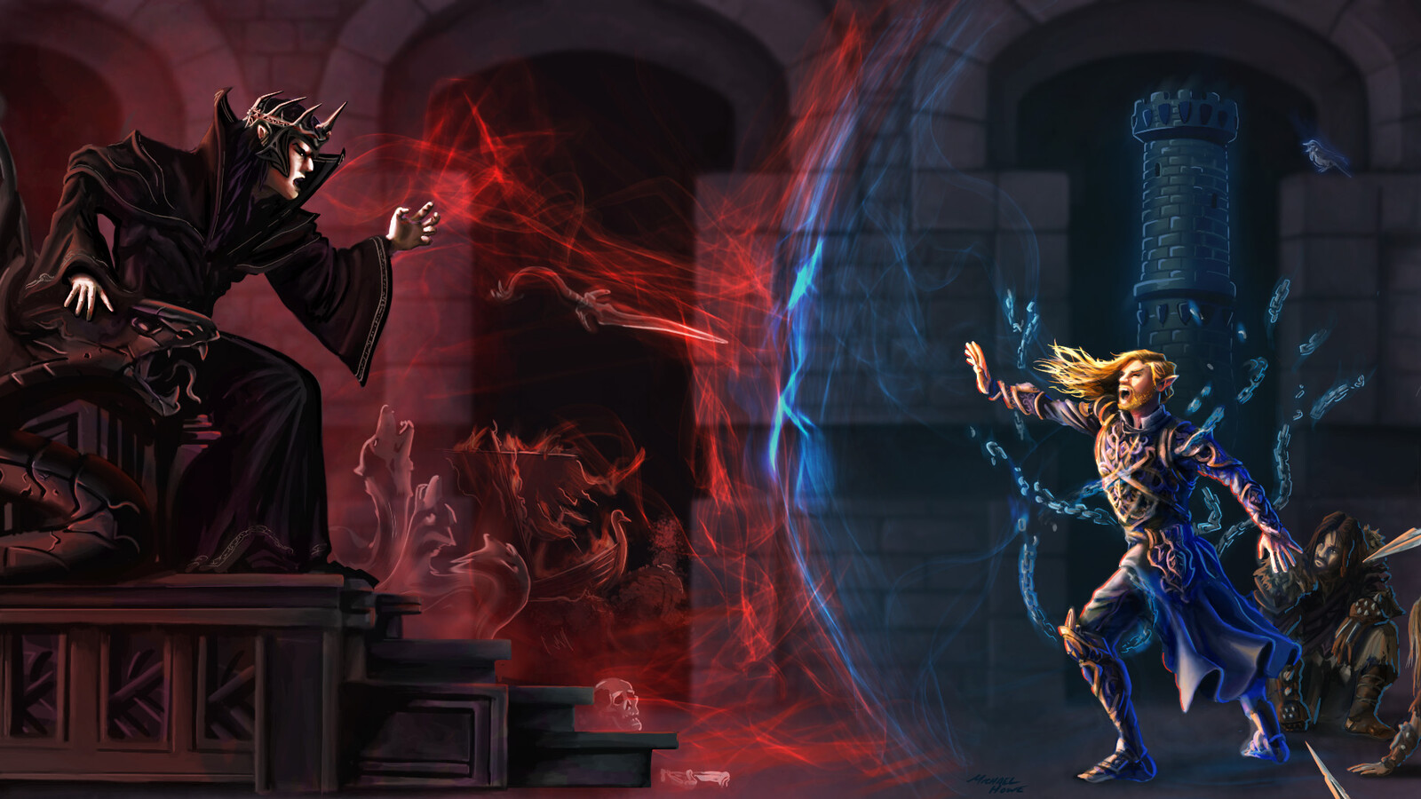 ArtStation - The Battle of Finrod and Sauron - Song Art, Michael Howe