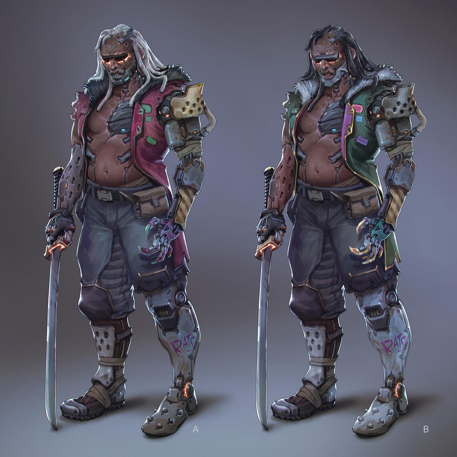 Rat King, Cyberpunk 2077 challenge on digital painitng school.