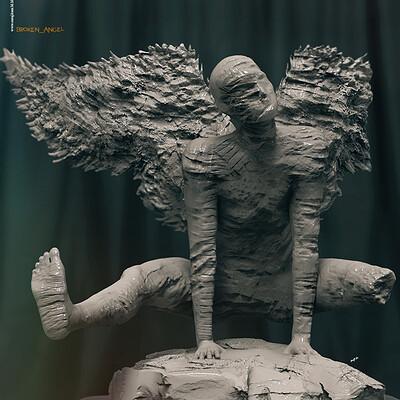 Surajit sen brokenangel digital sculpture surajitsen dec2020aa l
