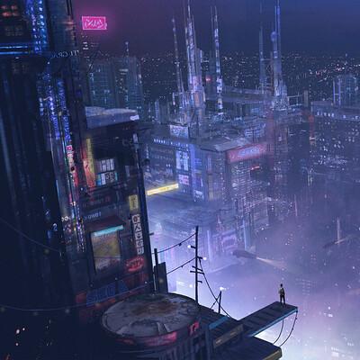 Leanna hillen cyberpunk environment concept jan 3rd 2021