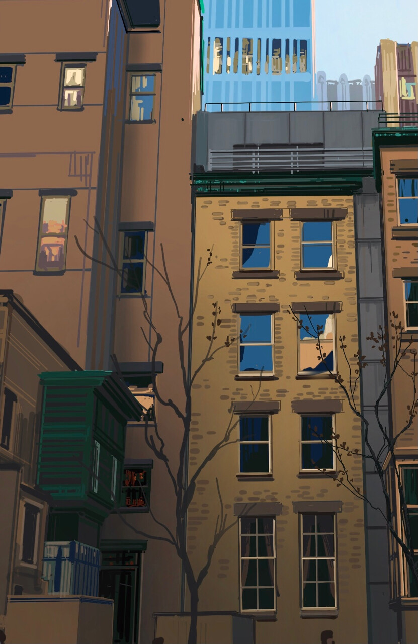 New york - Procreate : Details