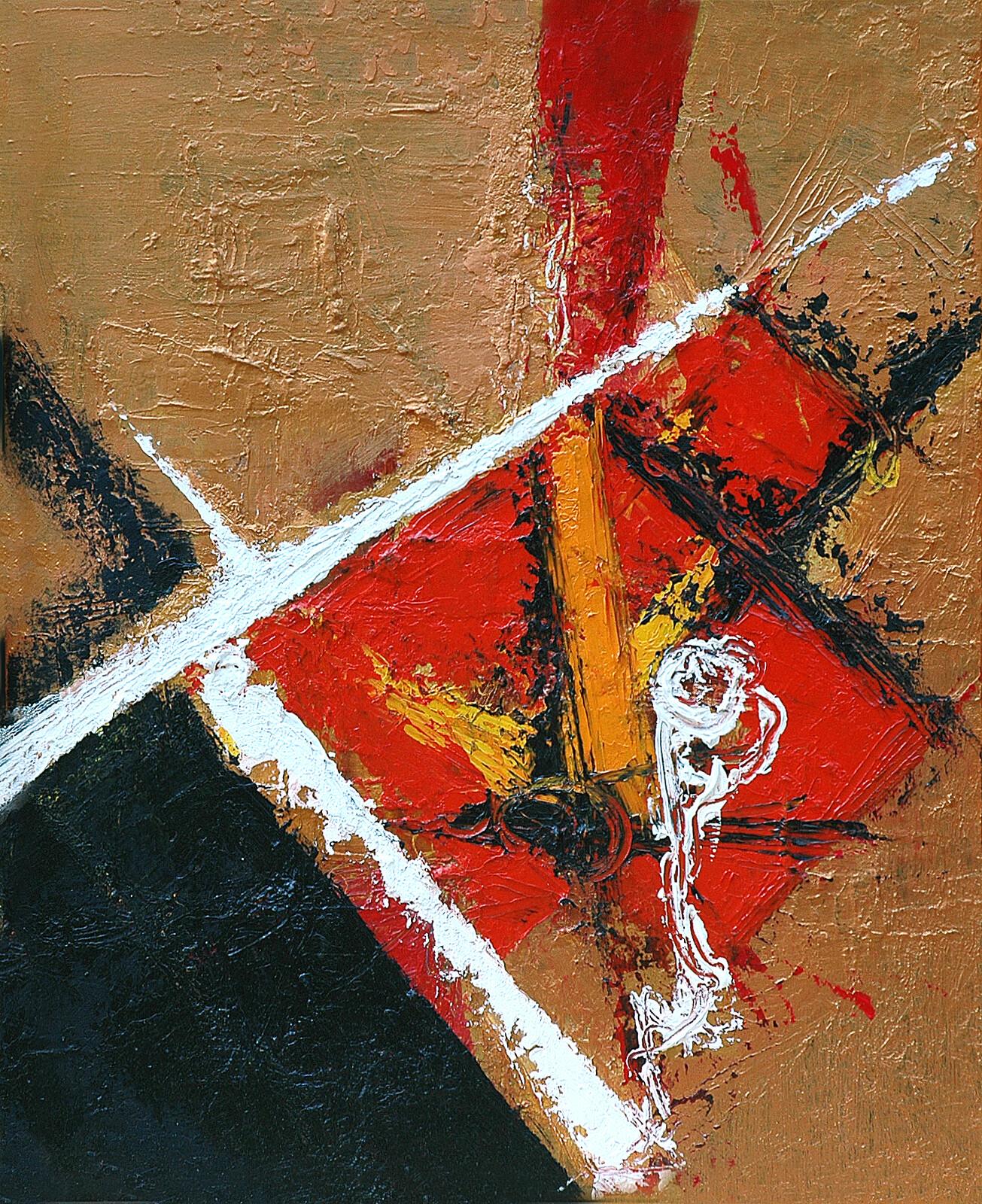 TRITTICO Mutazione 50 x 60 acrylic oil plaster on canvas