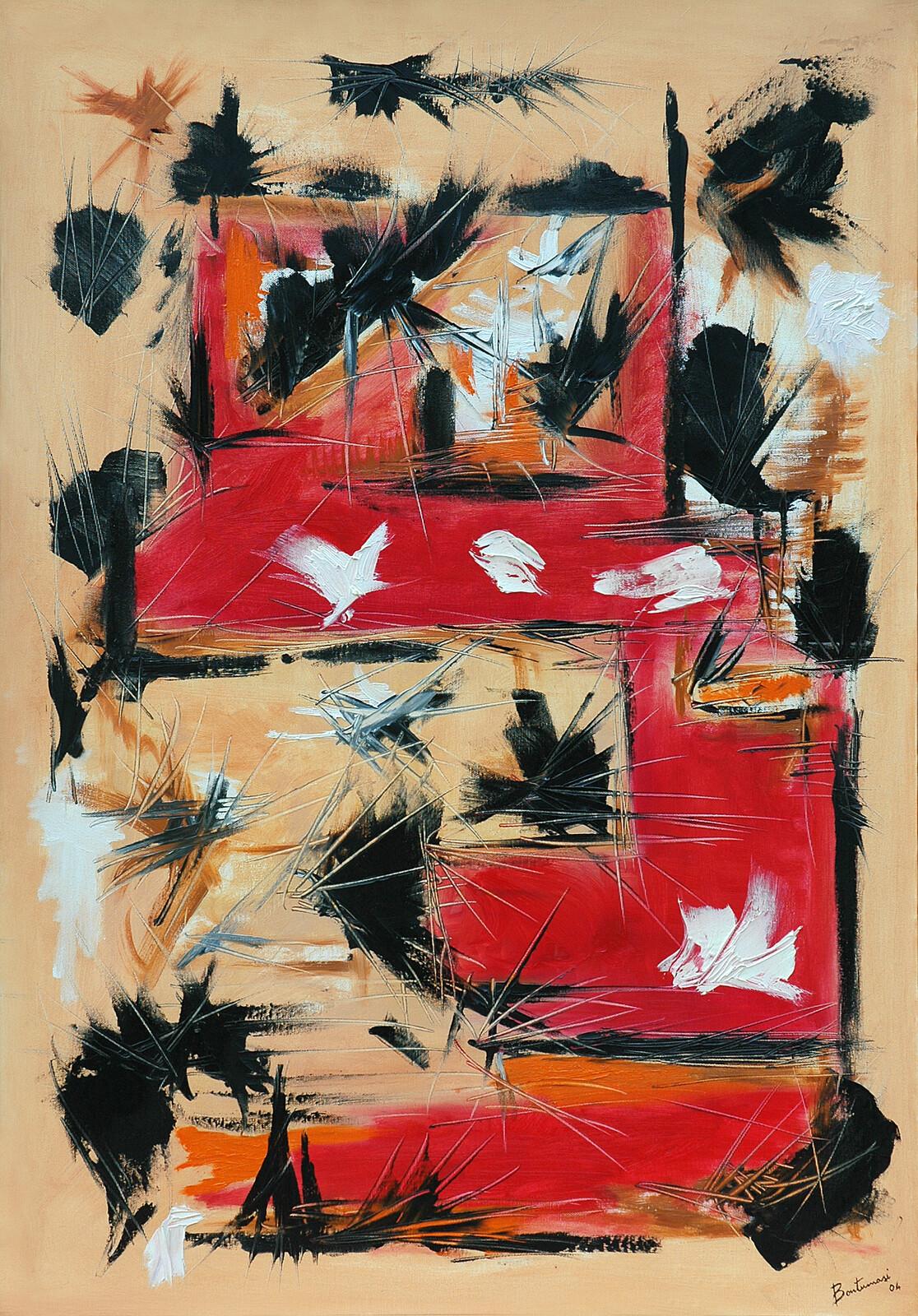 Volo di corvi I 70 x 100 oil on canvas