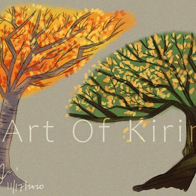 Kirin art cartoon saloon trees study