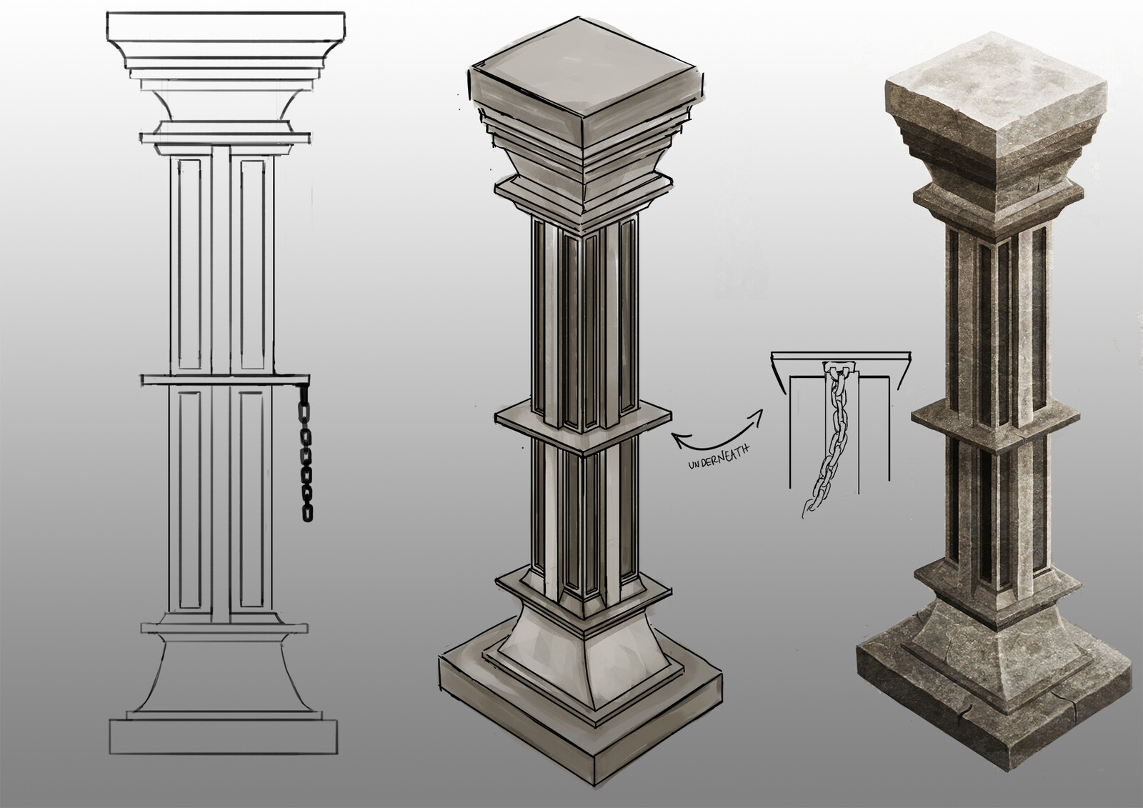 pillar sketch and concept