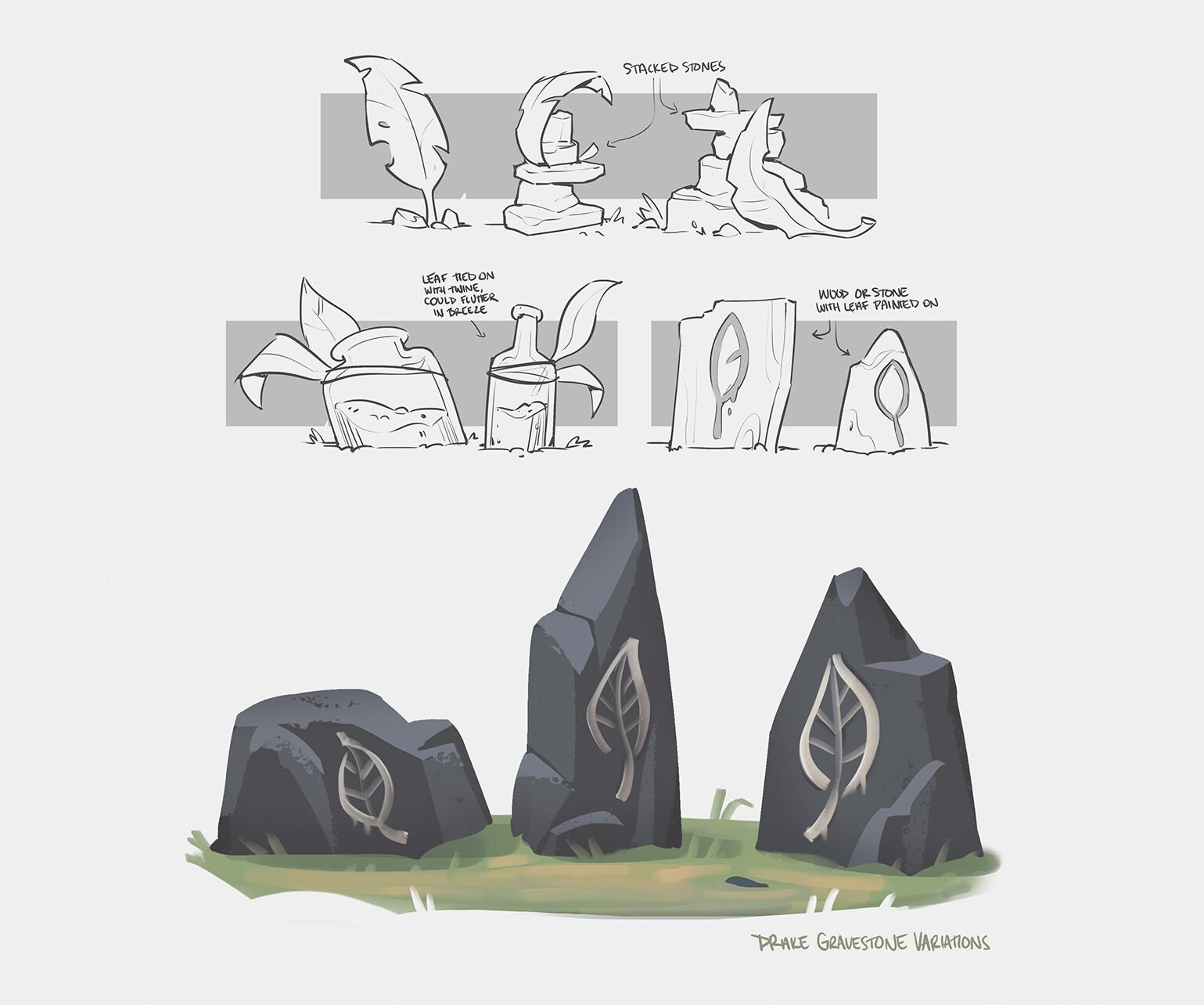 gravestones :(
