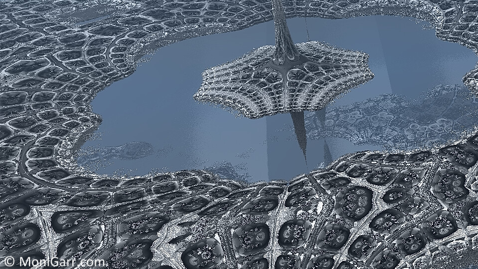 Snowy City 3D Fractal