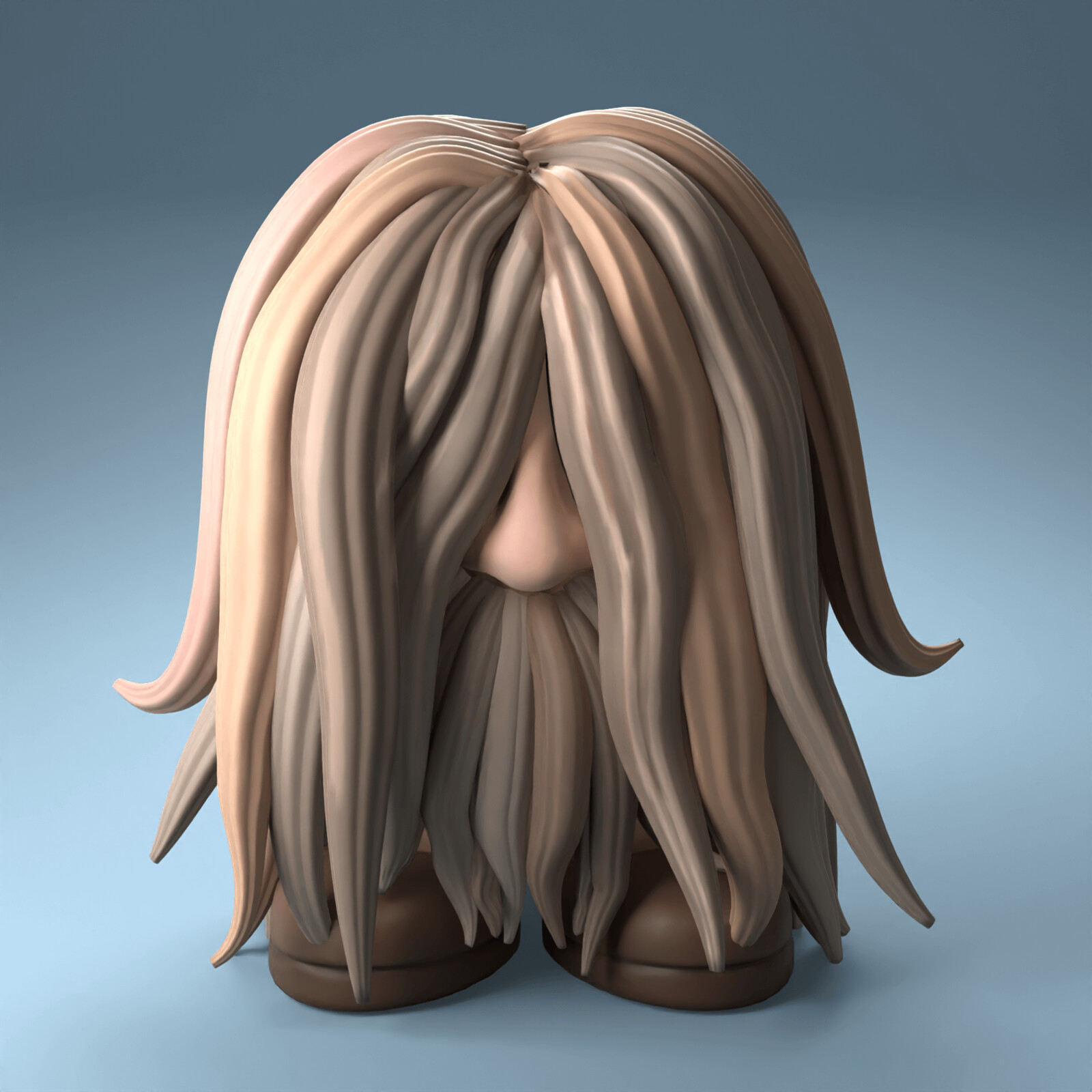 Uncontrollable Hair - SculptJanuary2021, day 6
