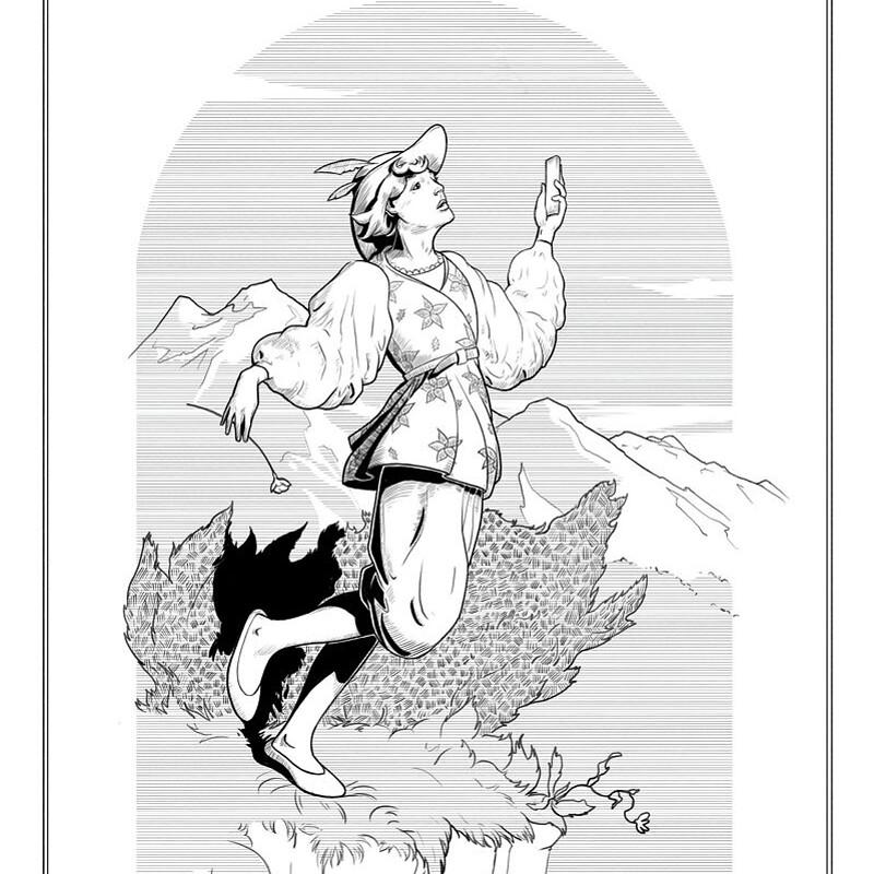 Jester - tarot card illustration