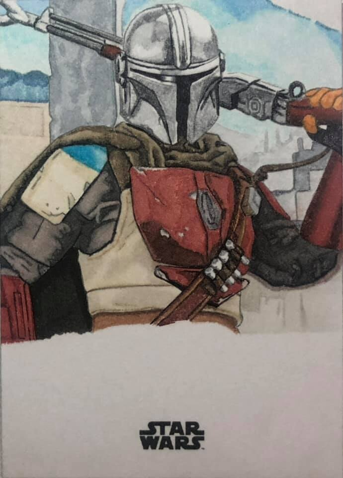 The Mandalorian created for the actor to sign