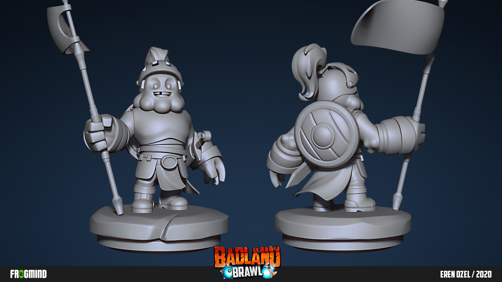 Clay render in ZBrush