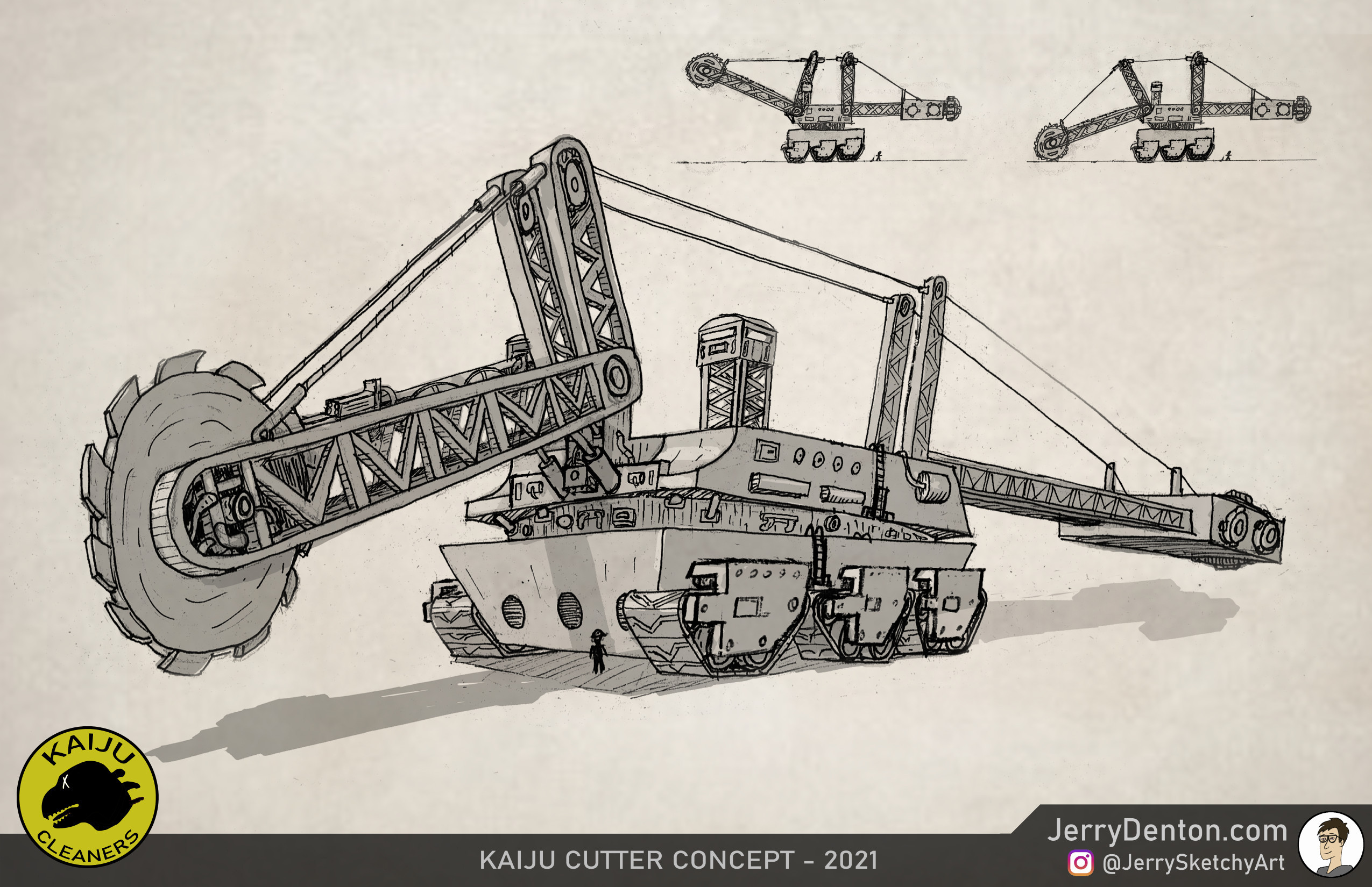 Kaiju Cutter concept design sheet