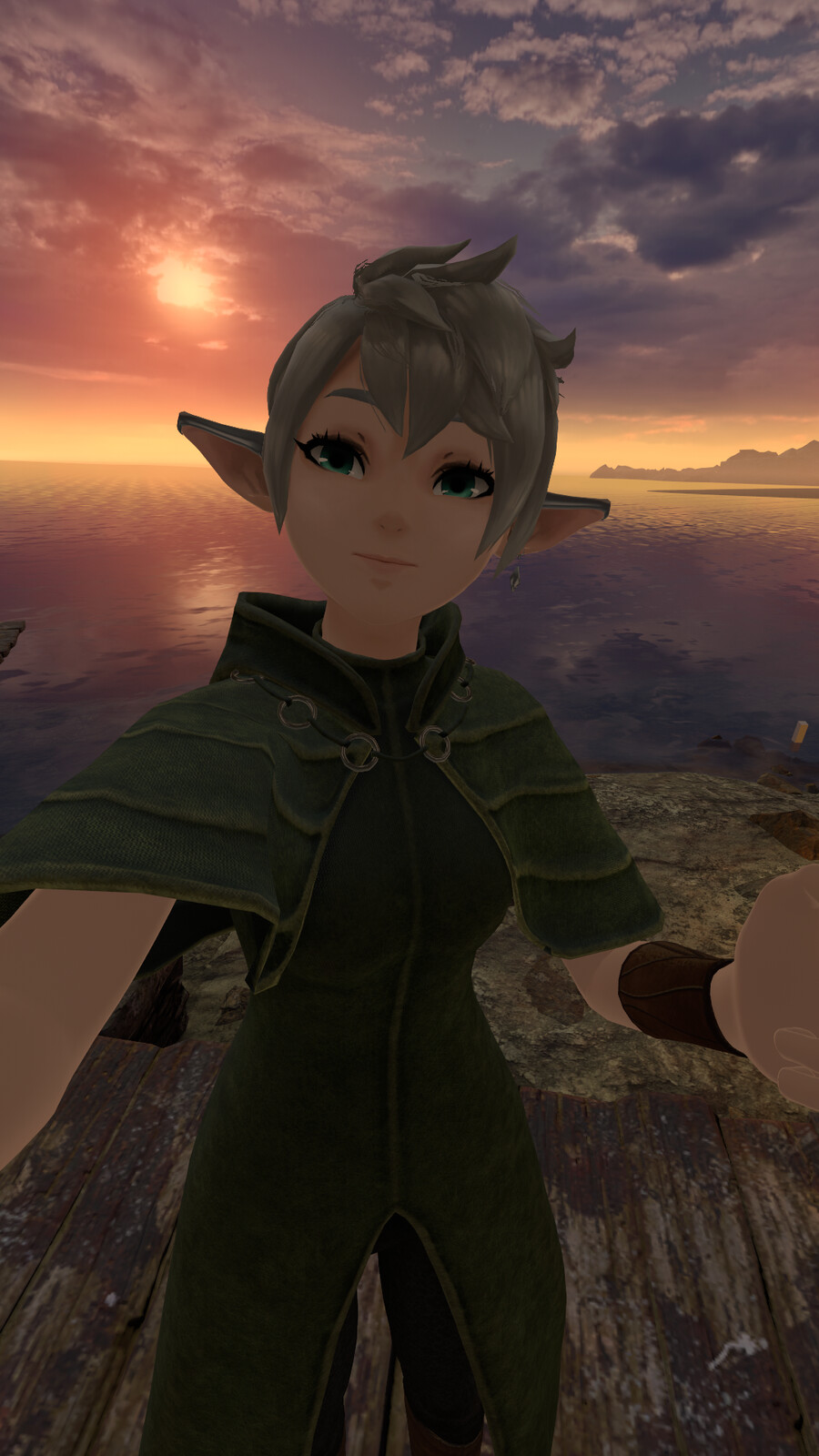 In-game selfie from me taking the avatar for a test drive