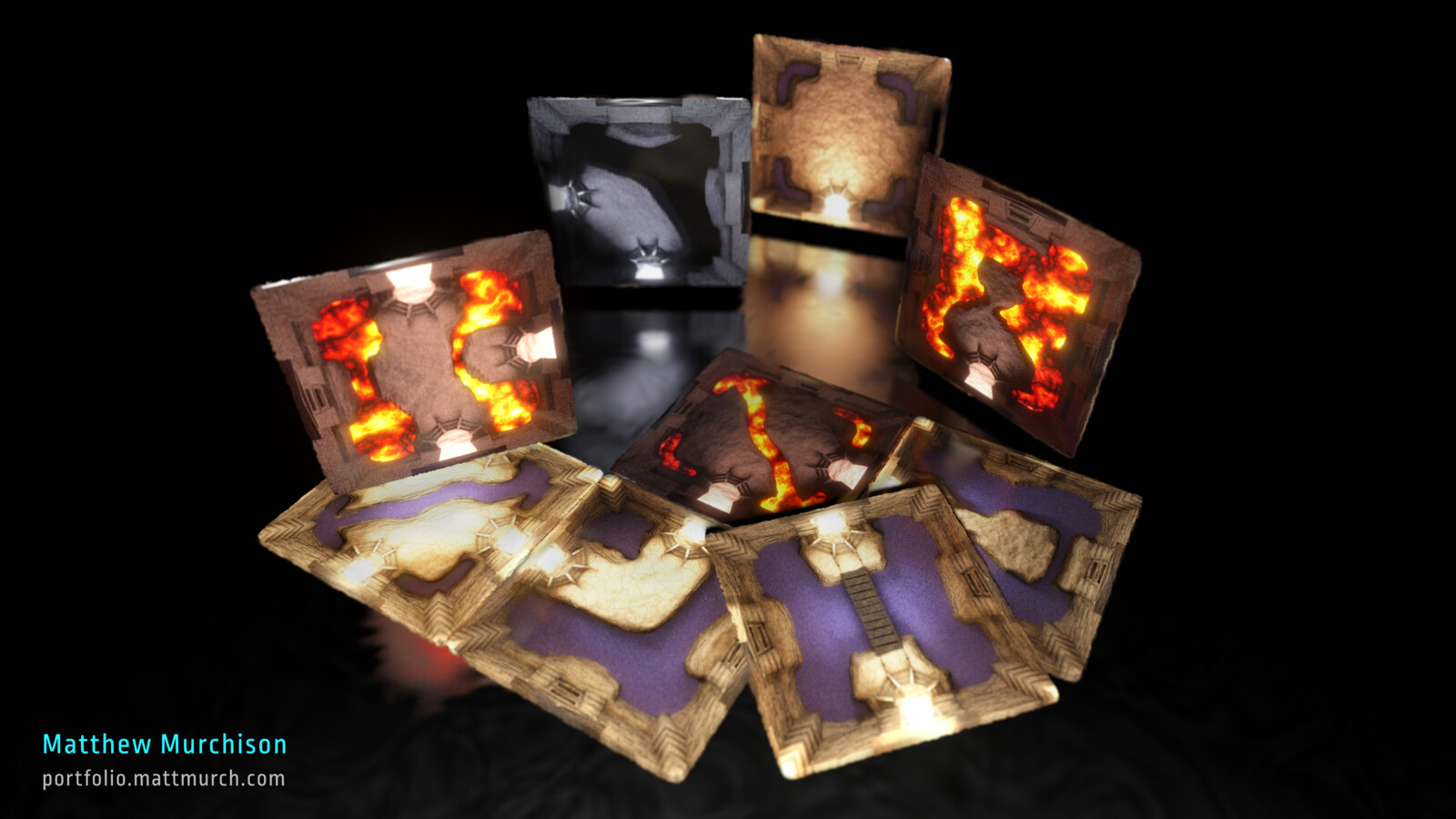 Cavern Path tile set