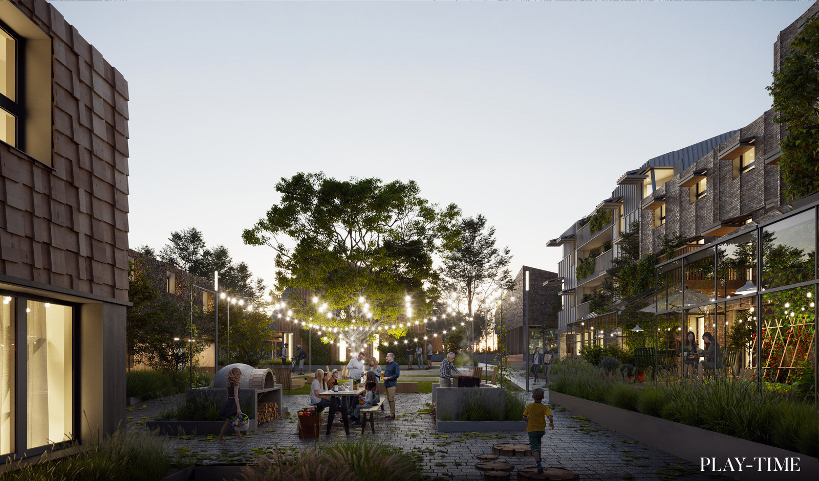 2030 concept housing designed by Perpendicular Architecture. Image by Play-time
