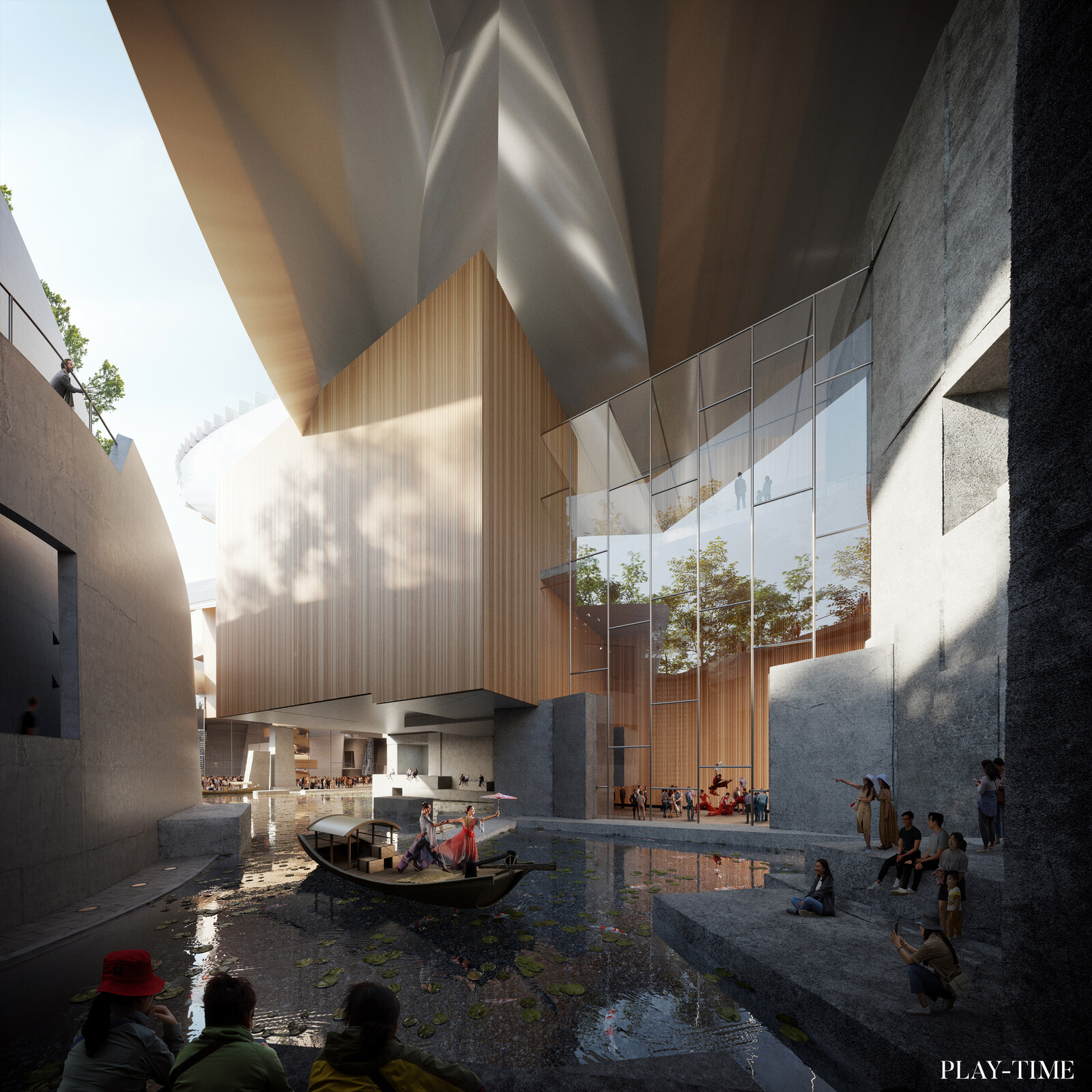 Performance center in Shenzen designed by EMBT Architects. Images by Play-time