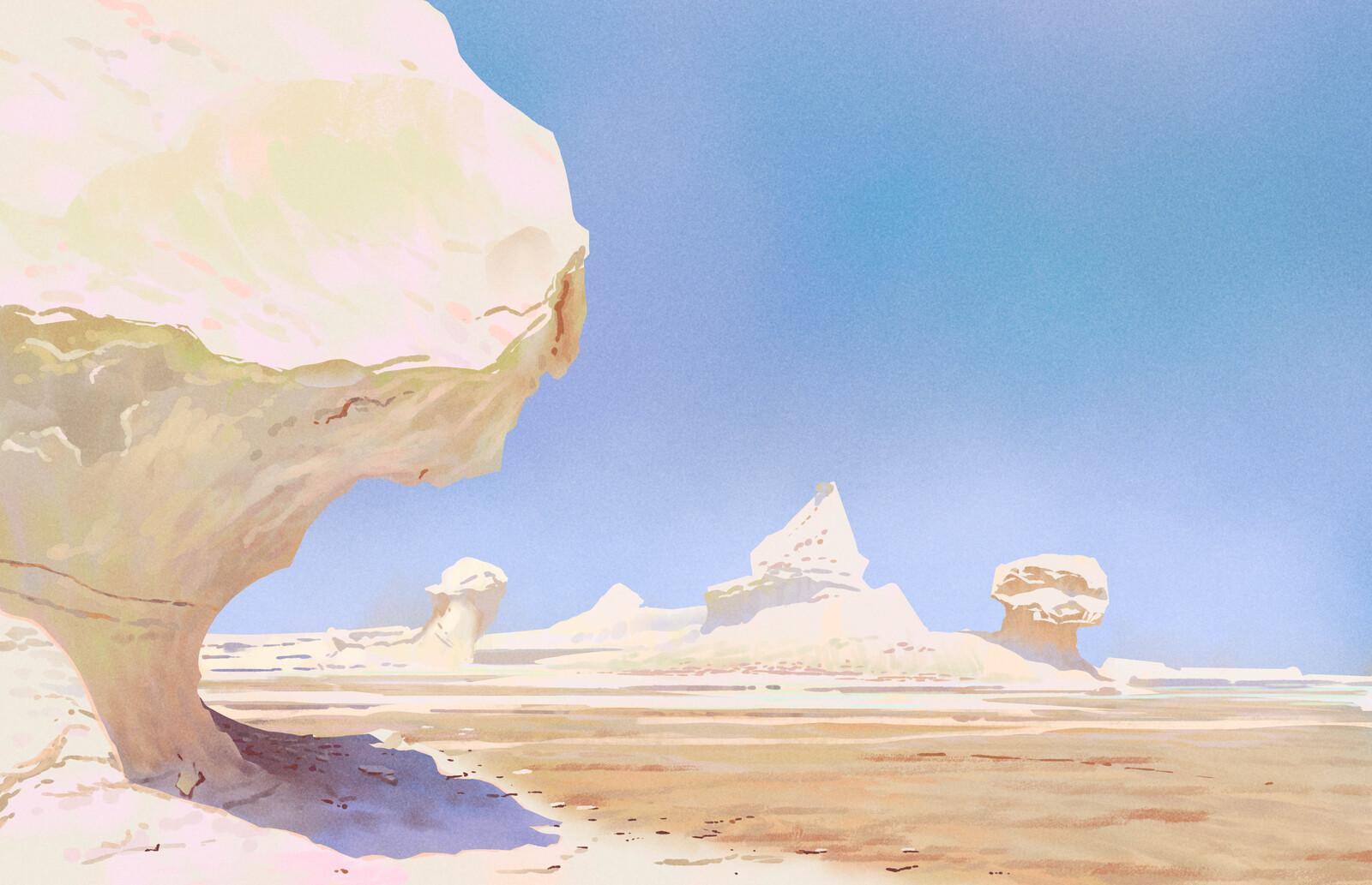 White Desert studies