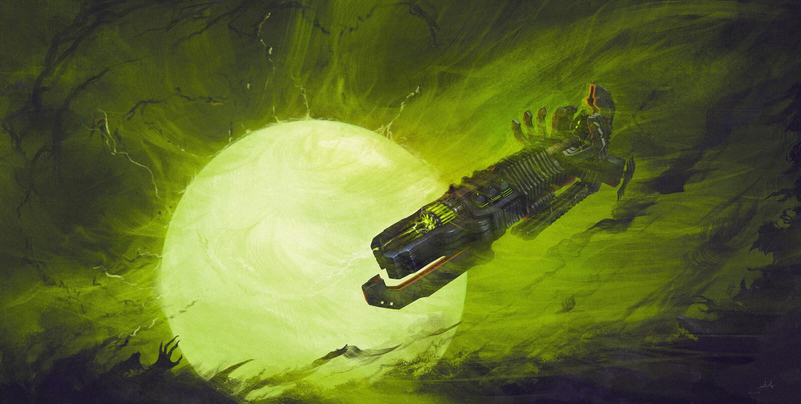 Necronian Destroyer Spaceship