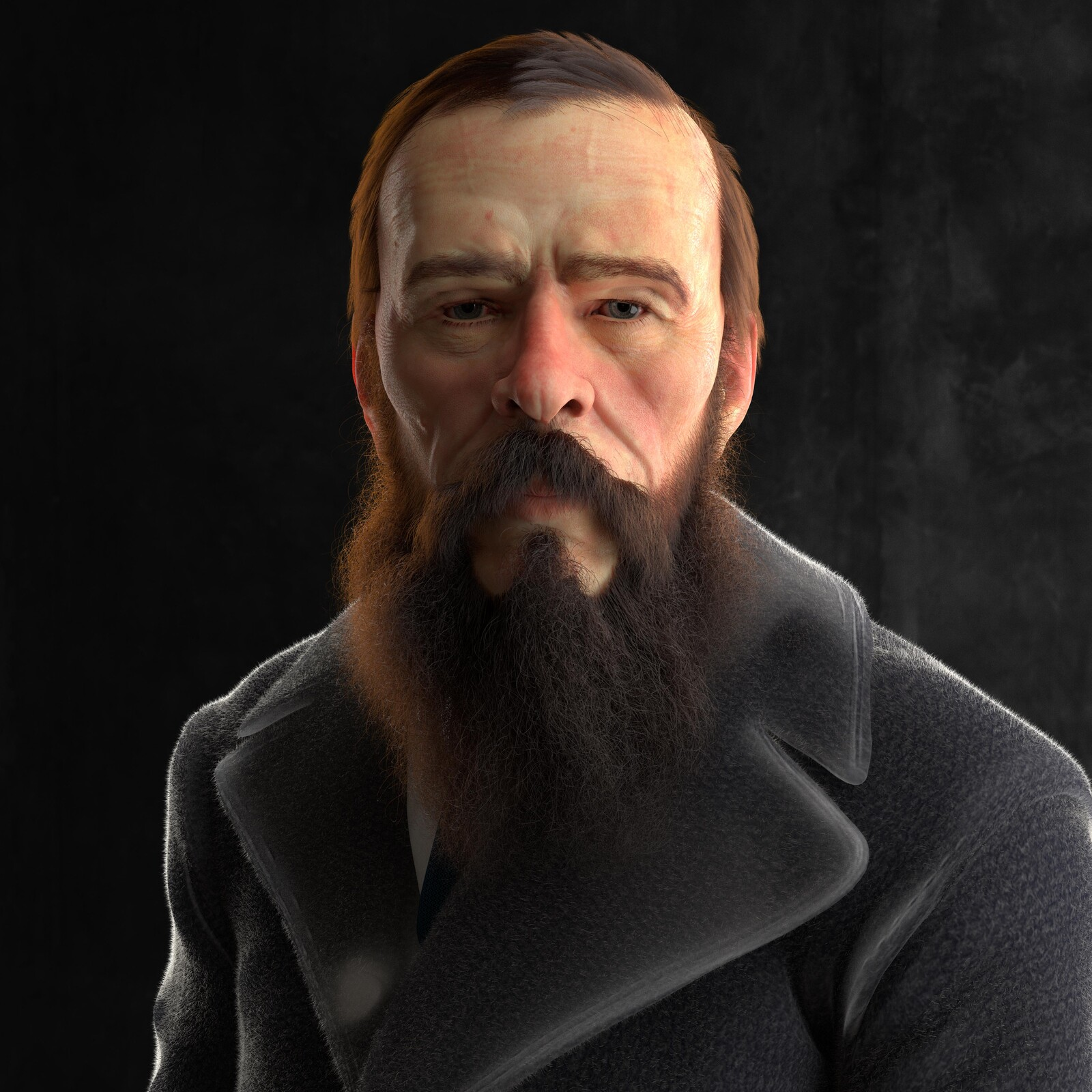 Fyodor Mikhailovich Dostoevsky Work in Progress Portrait
