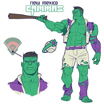 Cole marchetti avengers baseball hulk v3