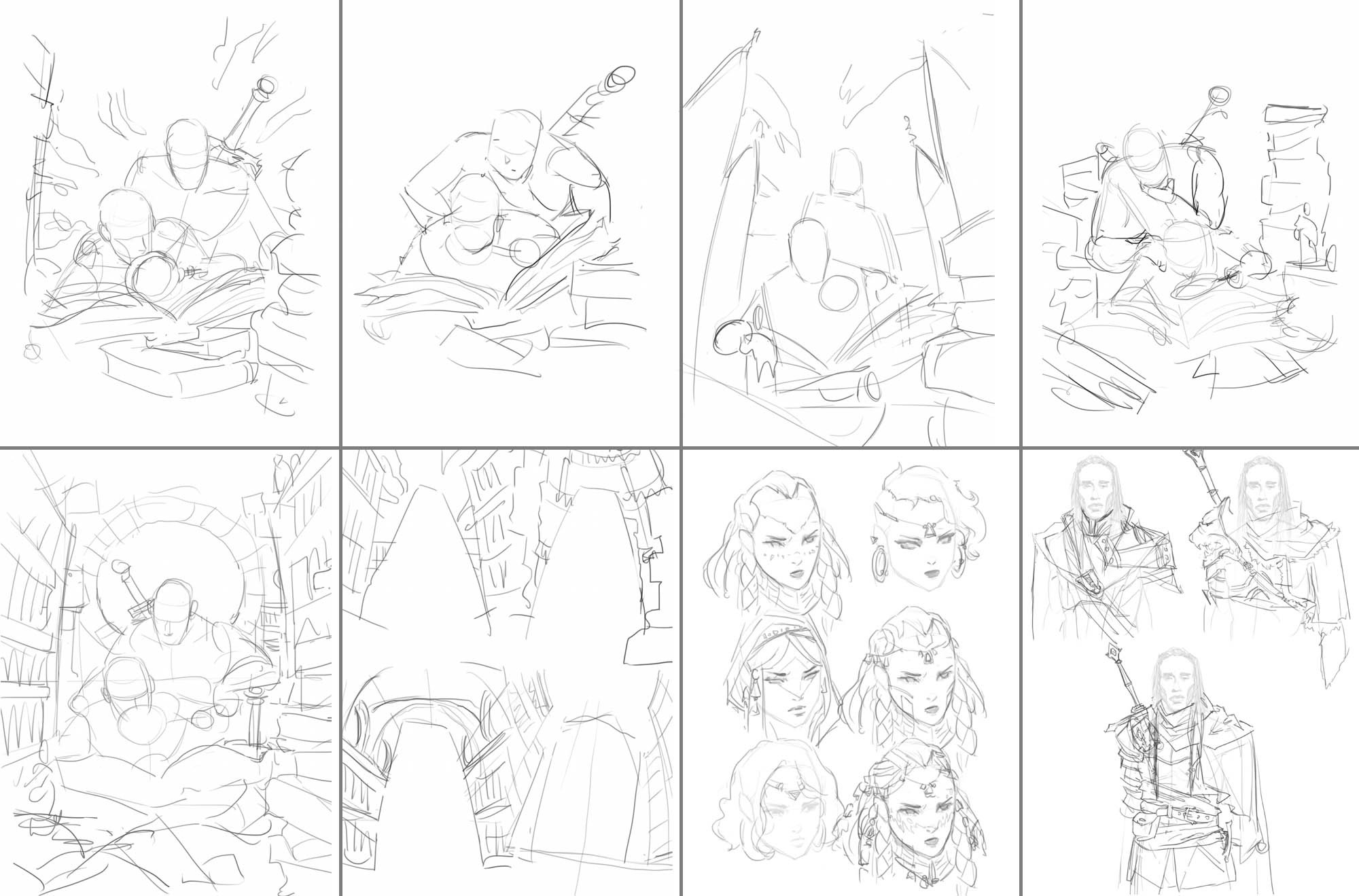 1. Many compositional and character studies