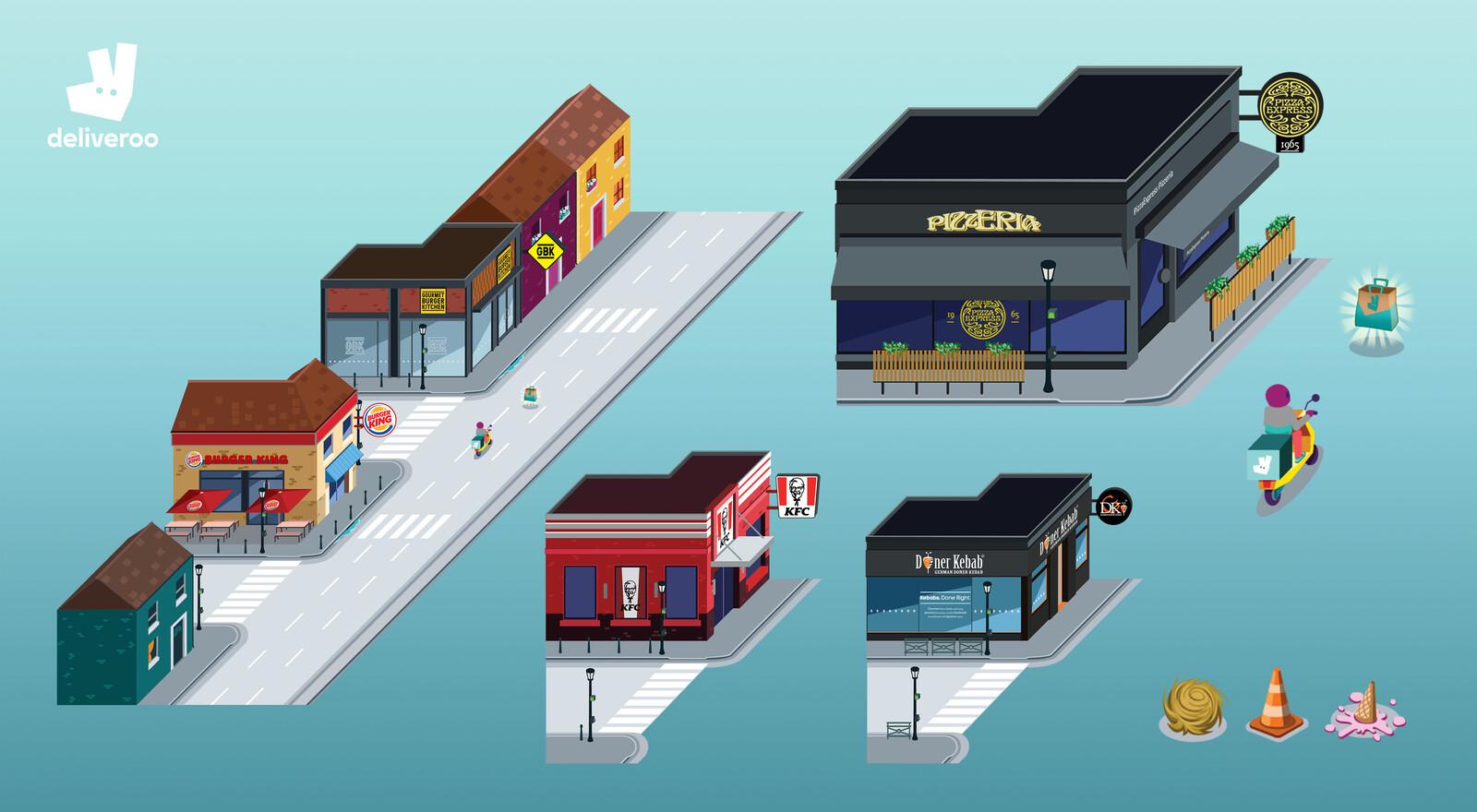 Réalisation de bâtiments et obstacle pour le jeu mobile et desktop